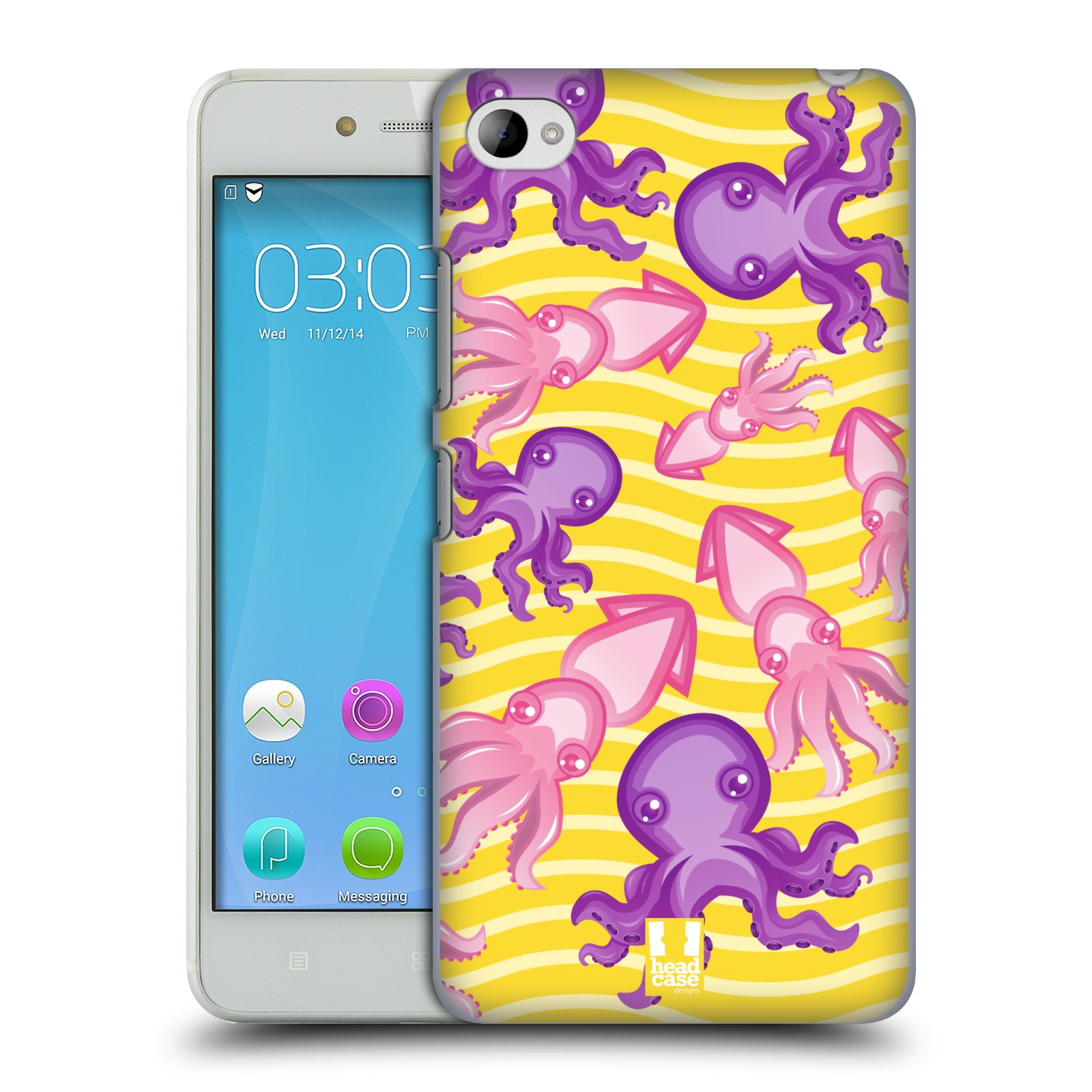 HEAD CASE pevný plastový obal na mobil LENOVO S90 vzor mořský živočich chobotnice