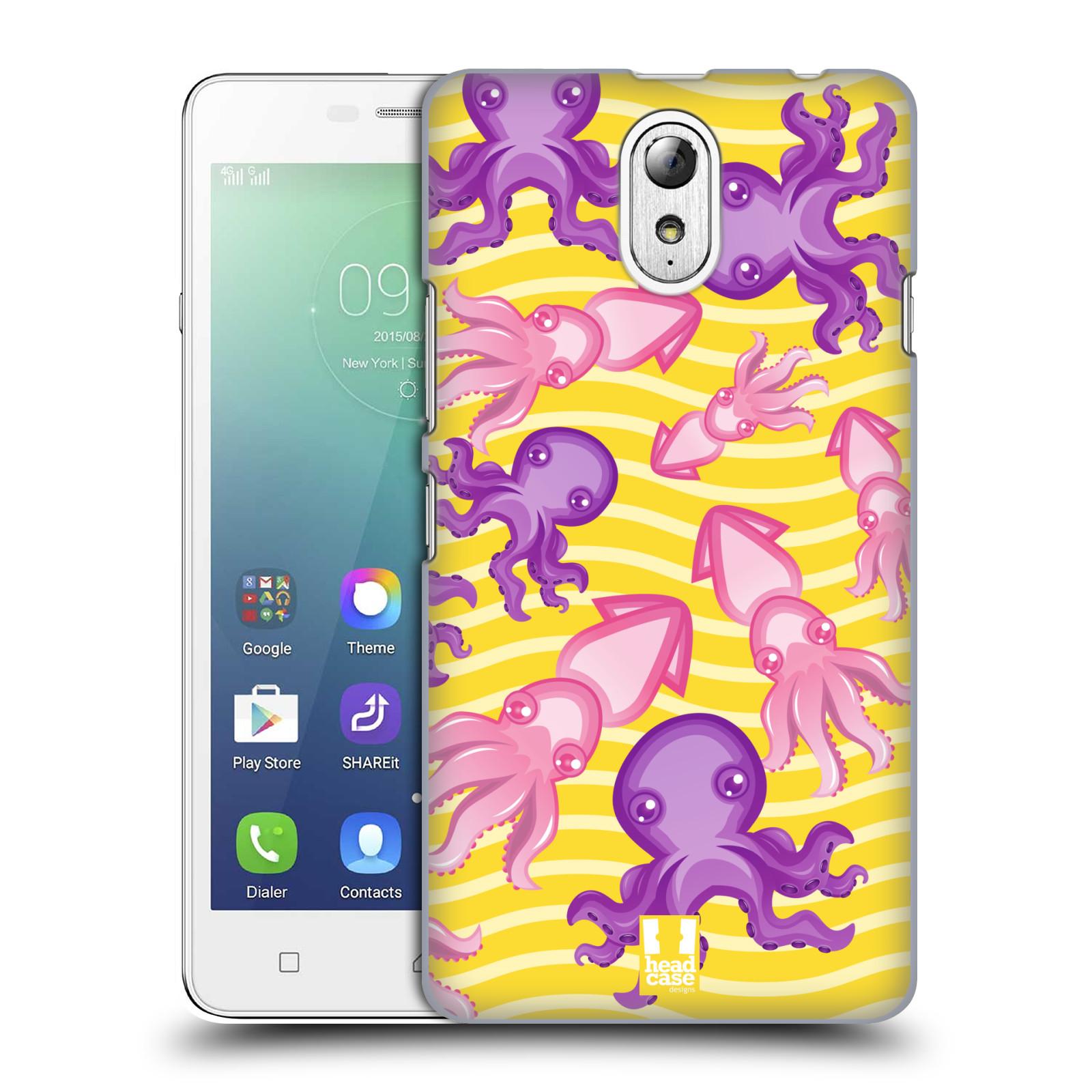 HEAD CASE pevný plastový obal na mobil LENOVO VIBE P1m / LENOVO VIBE p1m DUAL SIM vzor mořský živočich chobotnice