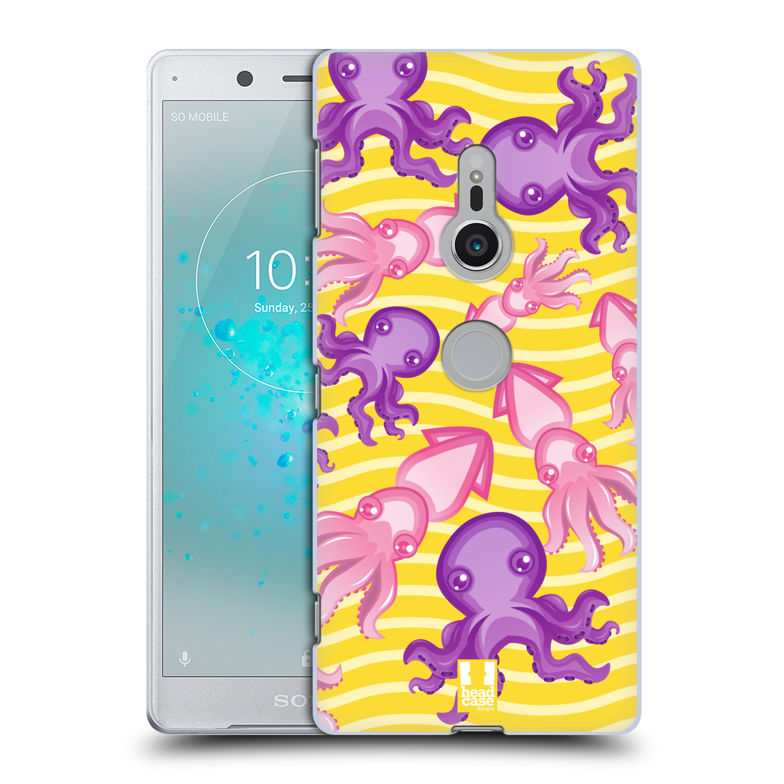 HEAD CASE plastový obal na mobil Sony Xperia XZ2 vzor mořský živočich chobotnice