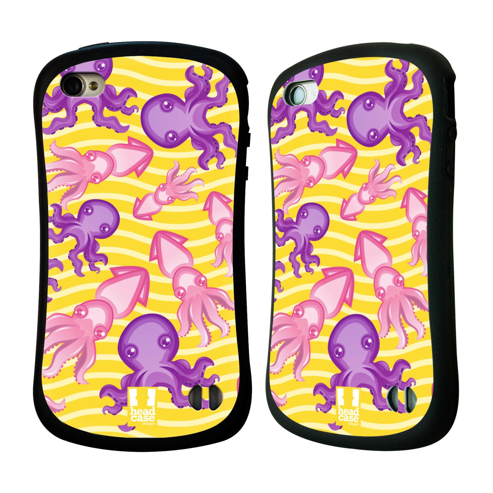 HEAD CASE silikon/plast odolný obal na mobil Apple Iphone 4/4S vzor mořský živočich chobotnice