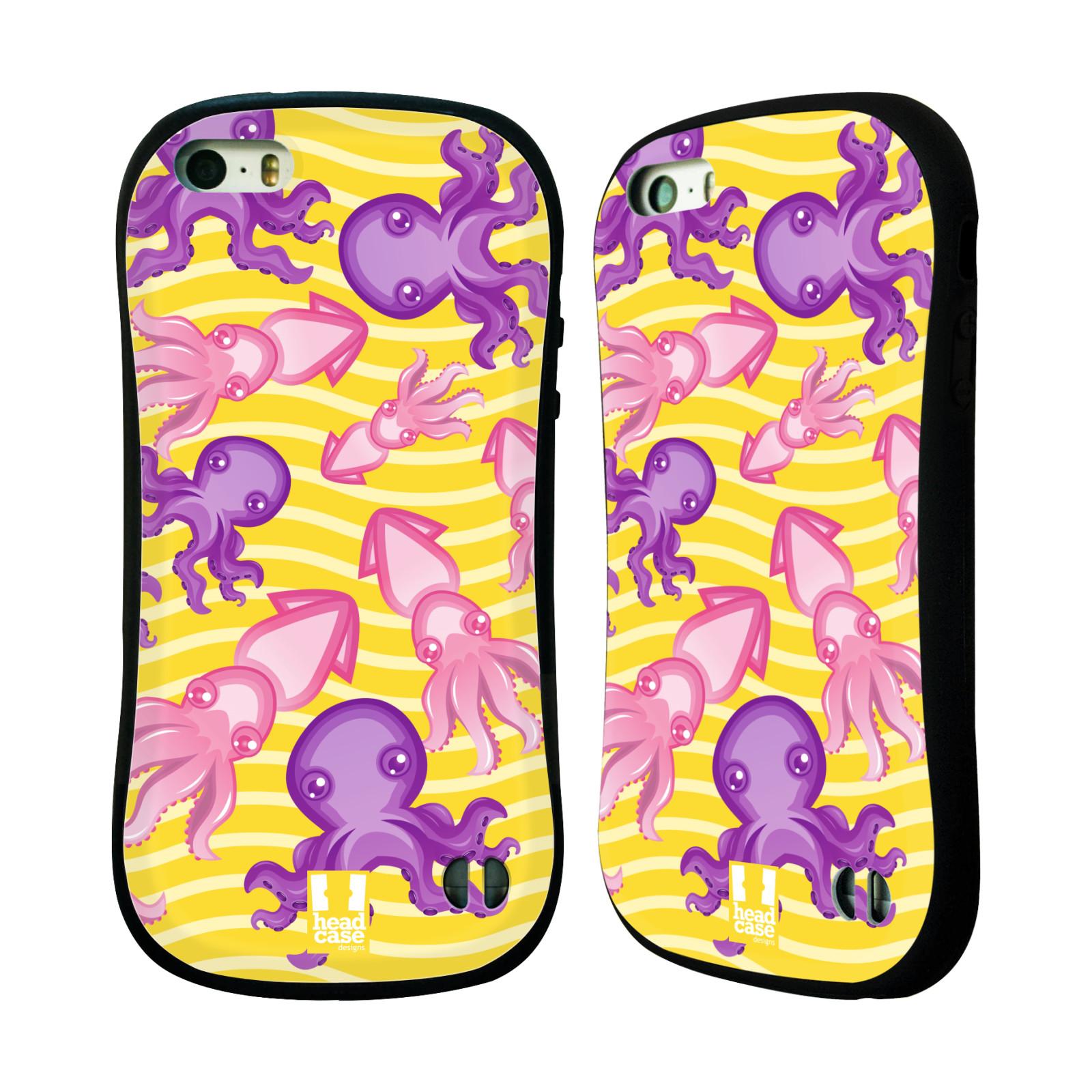 HEAD CASE silikon/plast odolný obal na mobil Apple Iphone 5/5S vzor mořský živočich chobotnice