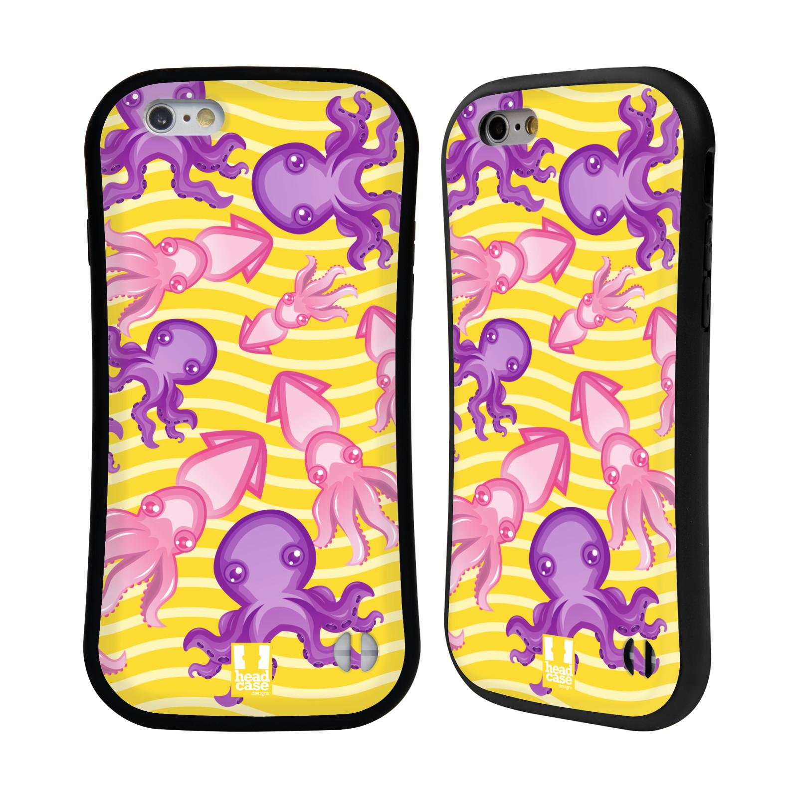 HEAD CASE silikon/plast odolný obal na mobil Apple Iphone 6/6S vzor mořský živočich chobotnice