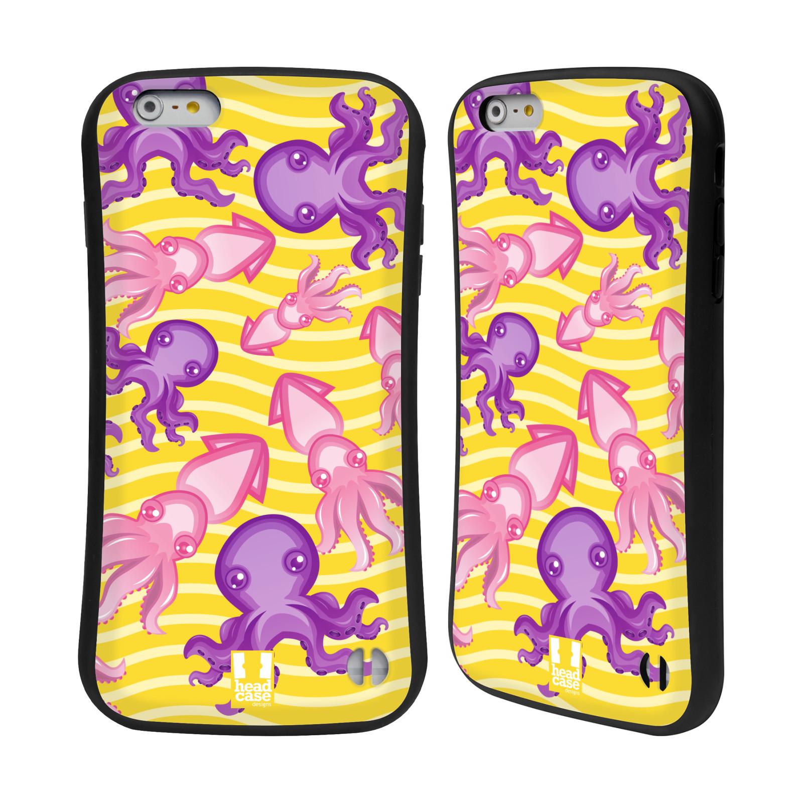 HEAD CASE silikon/plast odolný obal na mobil Apple Iphone 6 PLUS / 6S PLUS vzor mořský živočich chobotnice