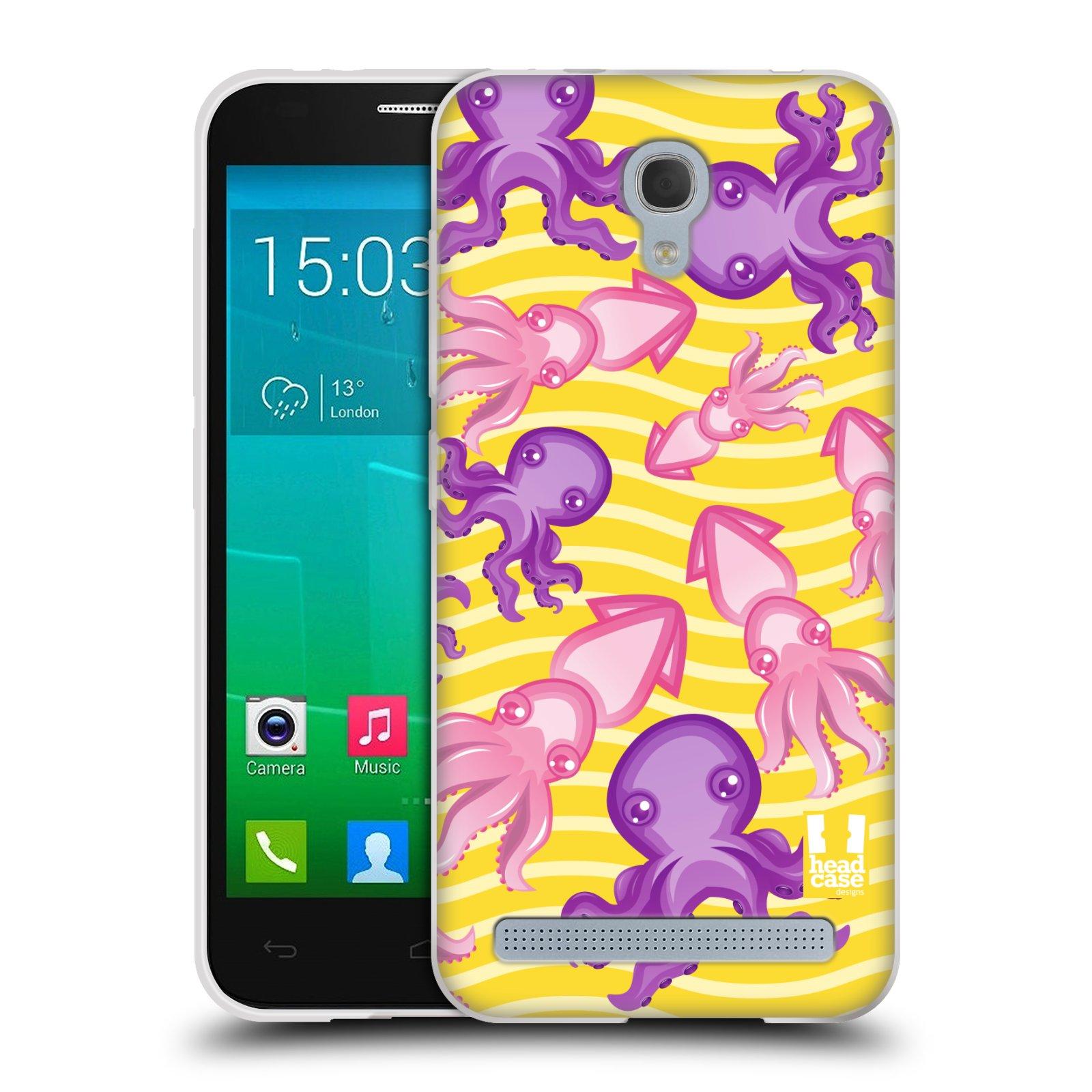 HEAD CASE silikonový obal na mobil Alcatel Idol 2 MINI S 6036Y vzor mořský živočich chobotnice