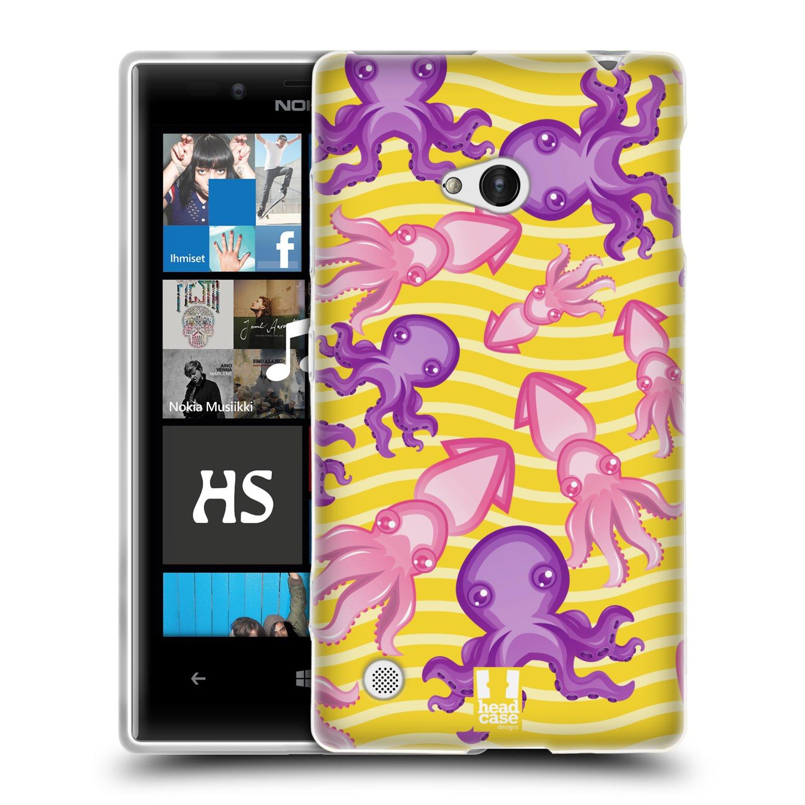 HEAD CASE silikonový obal na mobil NOKIA Lumia 720 vzor mořský živočich chobotnice