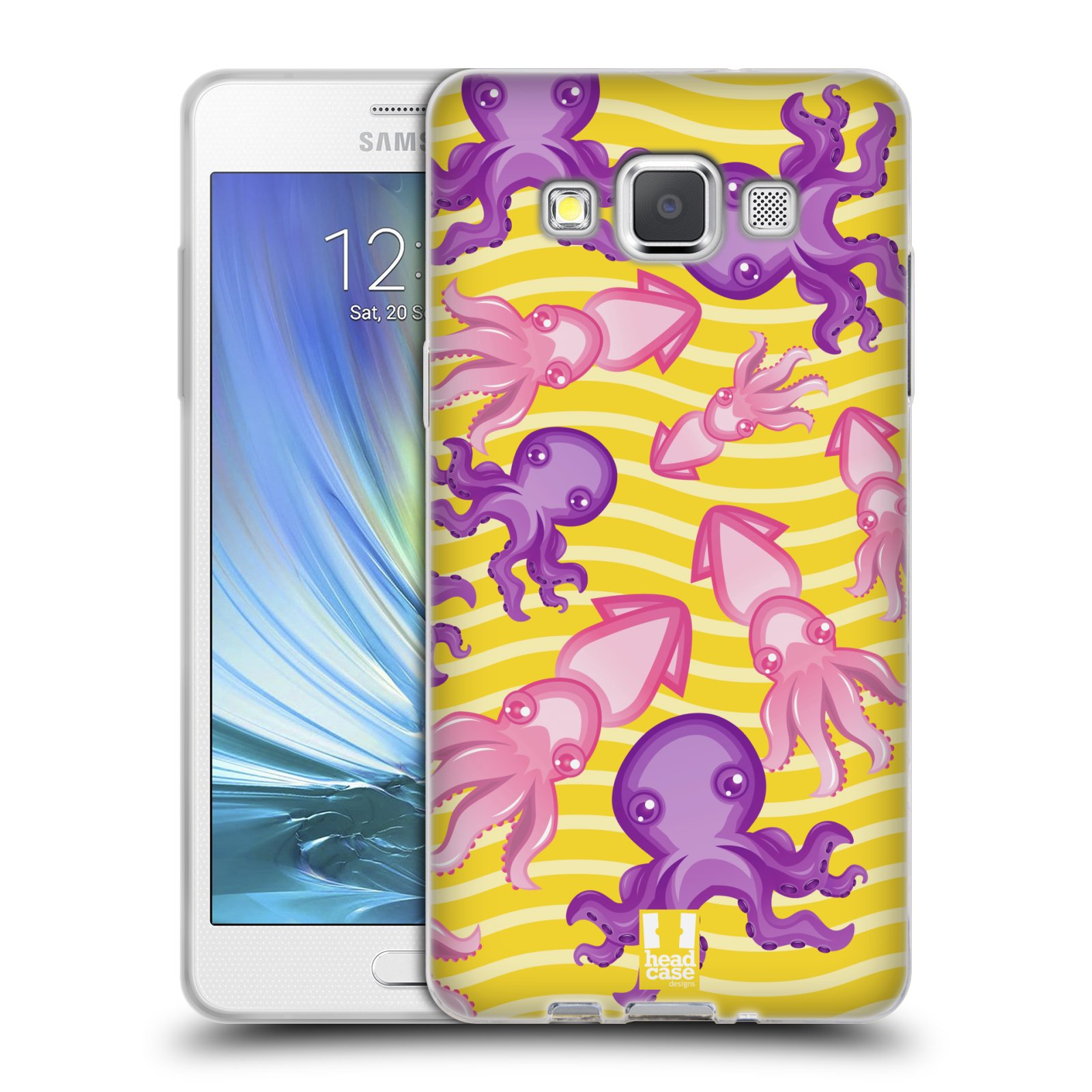 HEAD CASE silikonový obal na mobil Samsung Galaxy A5 vzor mořský živočich chobotnice
