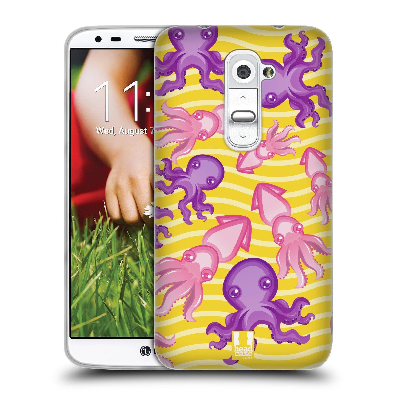 HEAD CASE silikonový obal na mobil LG G2 vzor mořský živočich chobotnice