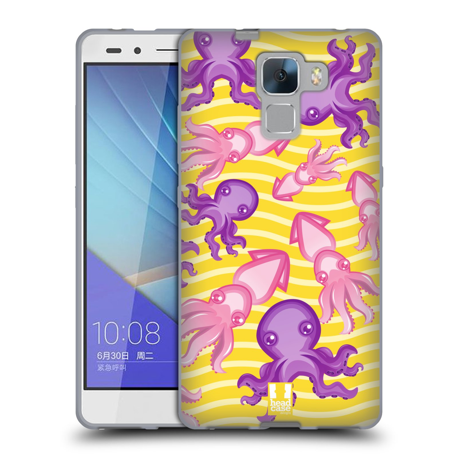 HEAD CASE silikonový obal na mobil HUAWEI HONOR 7 vzor mořský živočich chobotnice