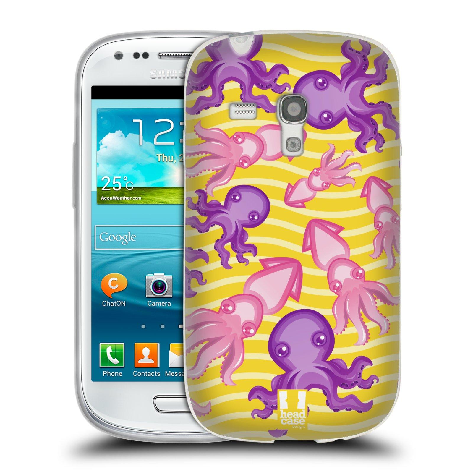 HEAD CASE silikonový obal na mobil Samsung Galaxy S3 MINI i8190 vzor mořský živočich chobotnice