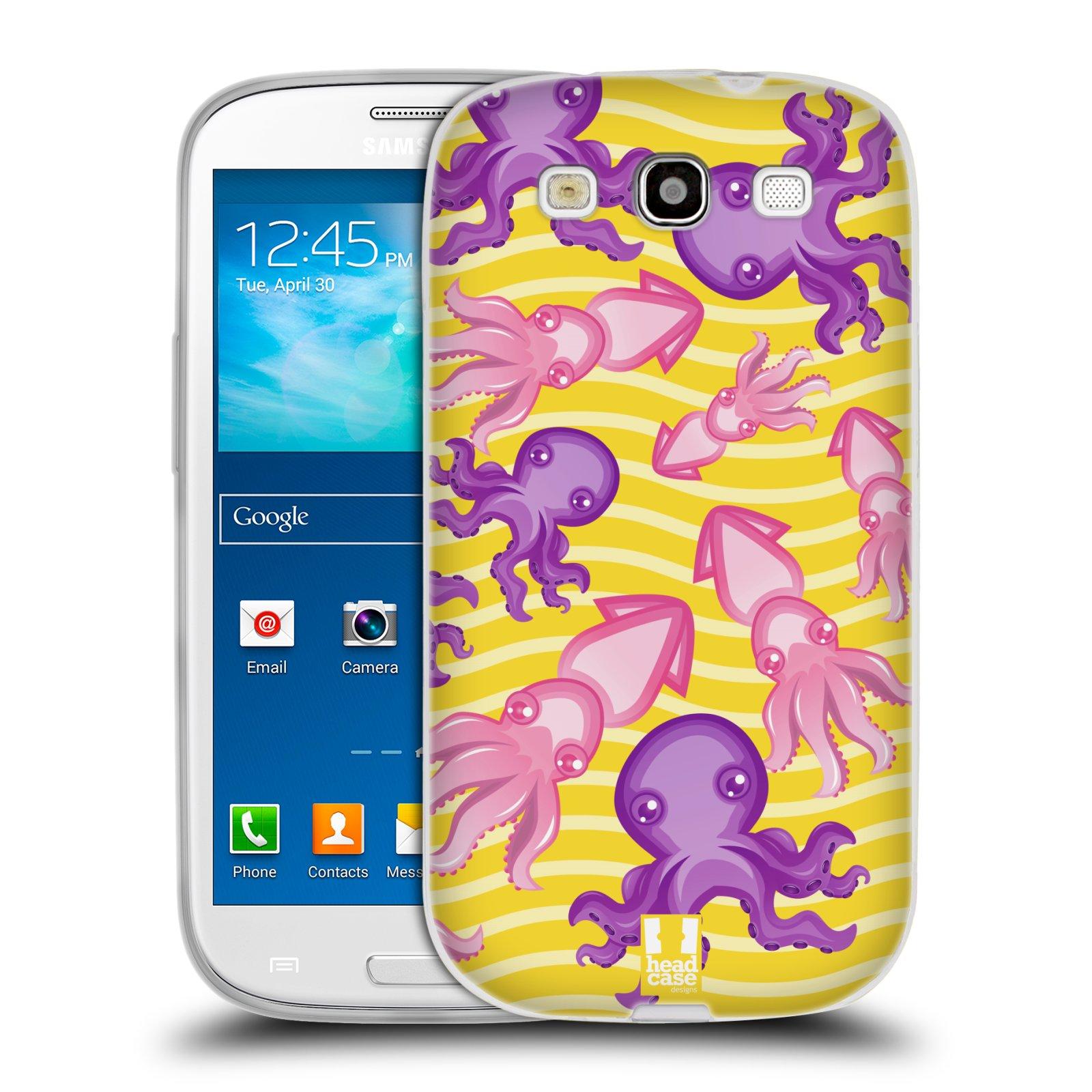 HEAD CASE silikonový obal na mobil Samsung Galaxy S3 i9300 vzor mořský živočich chobotnice