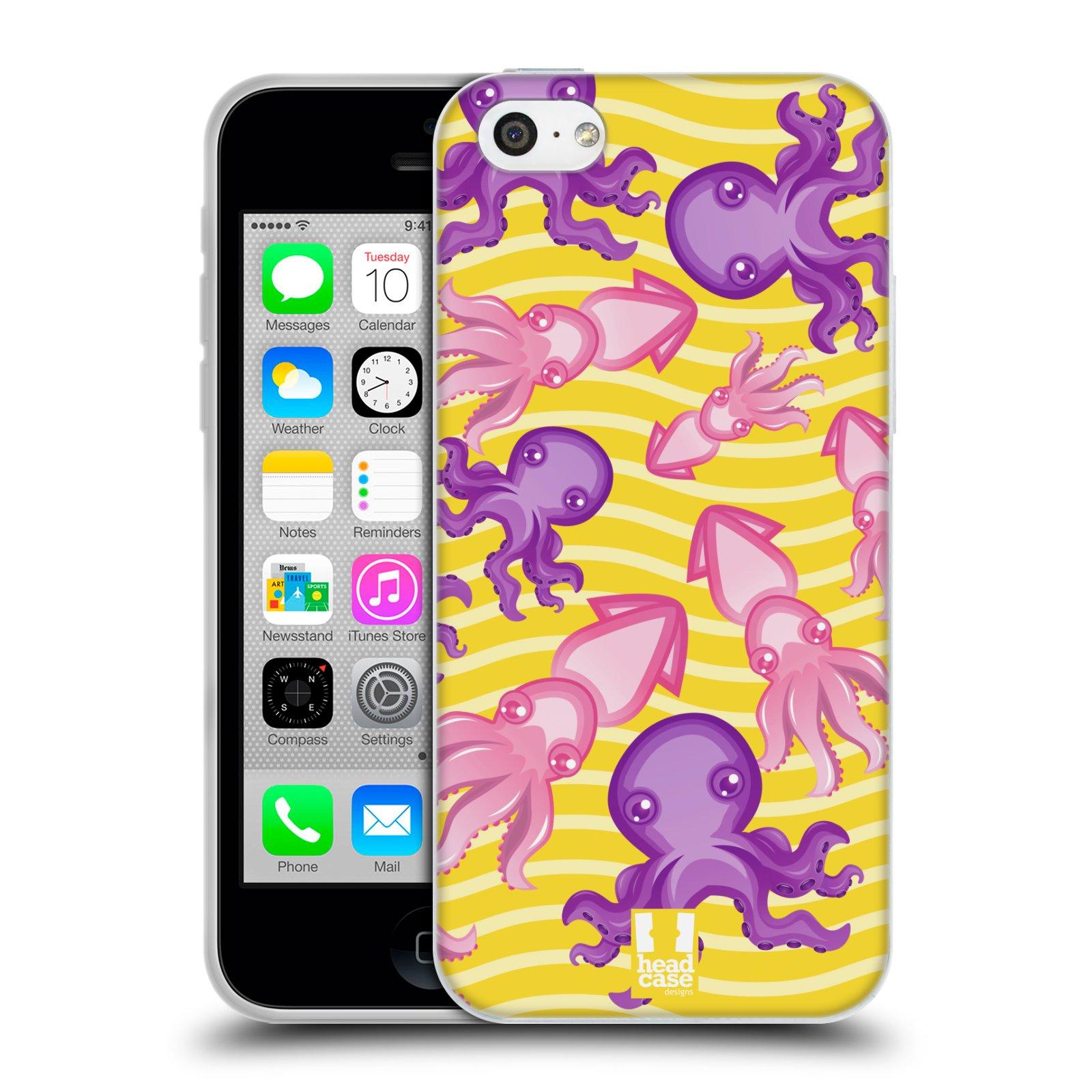 HEAD CASE silikonový obal na mobil Apple Iphone 5C vzor mořský živočich chobotnice