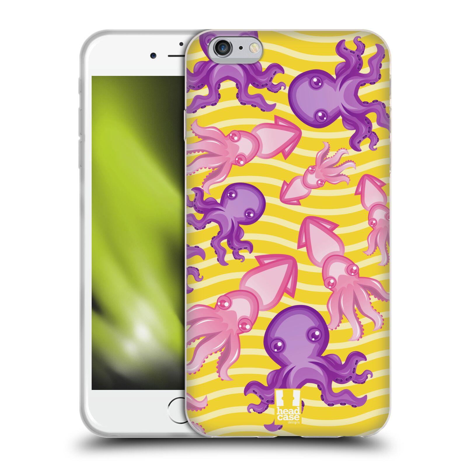 HEAD CASE silikonový obal na mobil Apple Iphone 6 PLUS/ 6S PLUS vzor mořský živočich chobotnice