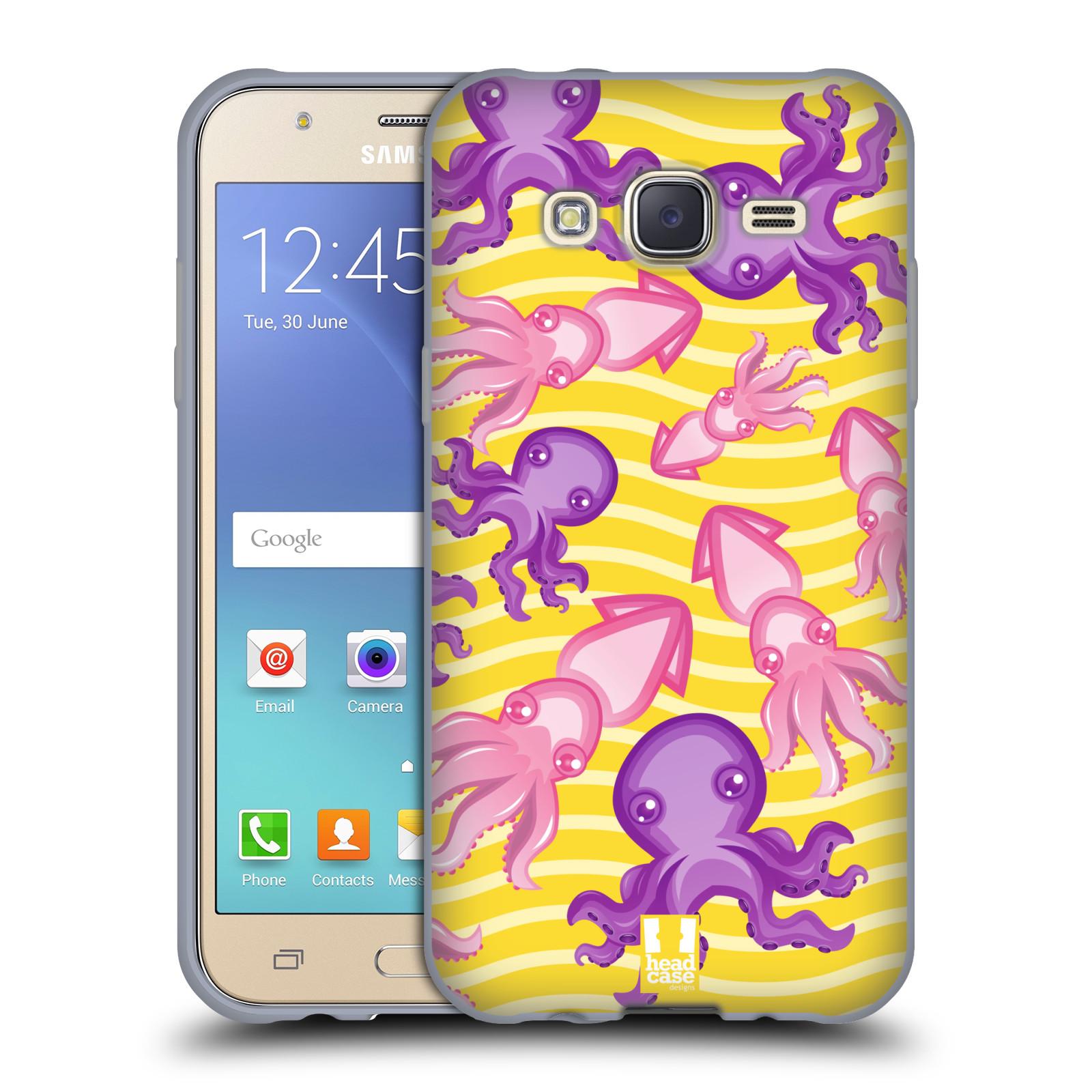HEAD CASE silikonový obal na mobil Samsung Galaxy J5, J500, (J5 DUOS) vzor mořský živočich chobotnice