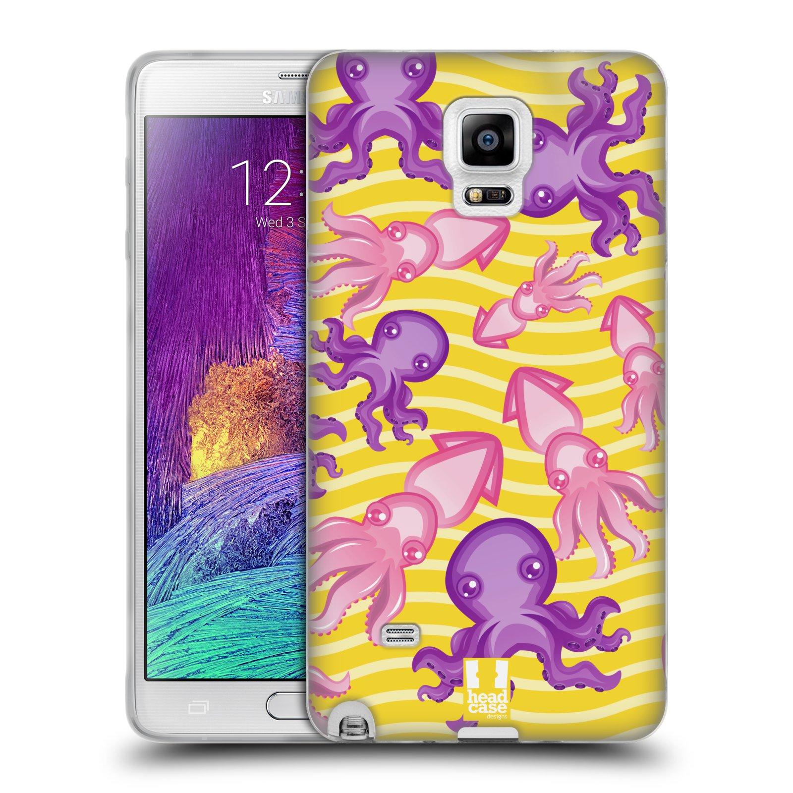 HEAD CASE silikonový obal na mobil Samsung Galaxy Note 4 (N910) vzor mořský živočich chobotnice