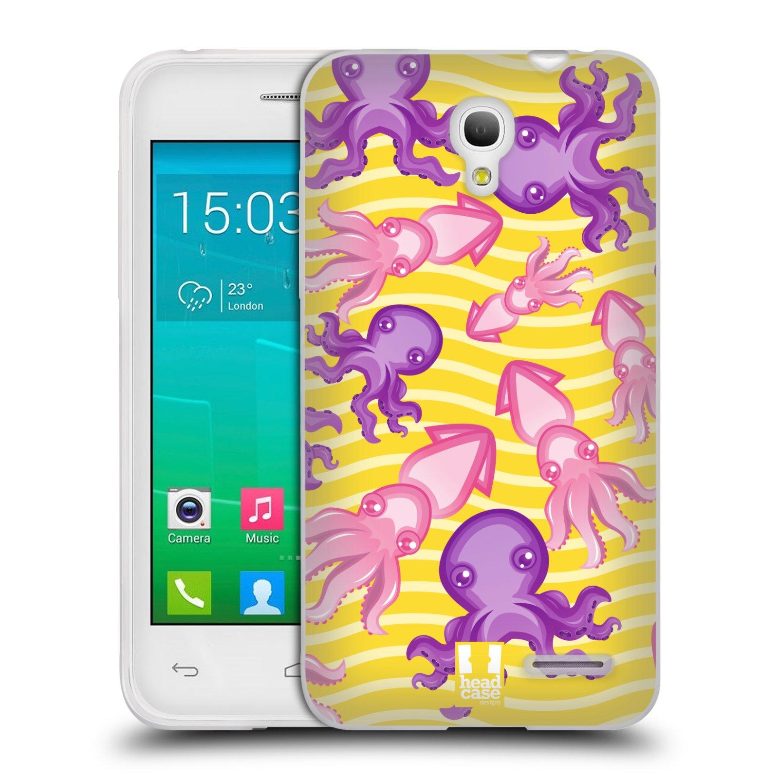 HEAD CASE silikonový obal na mobil Alcatel POP S3 OT-5050Y vzor mořský živočich chobotnice