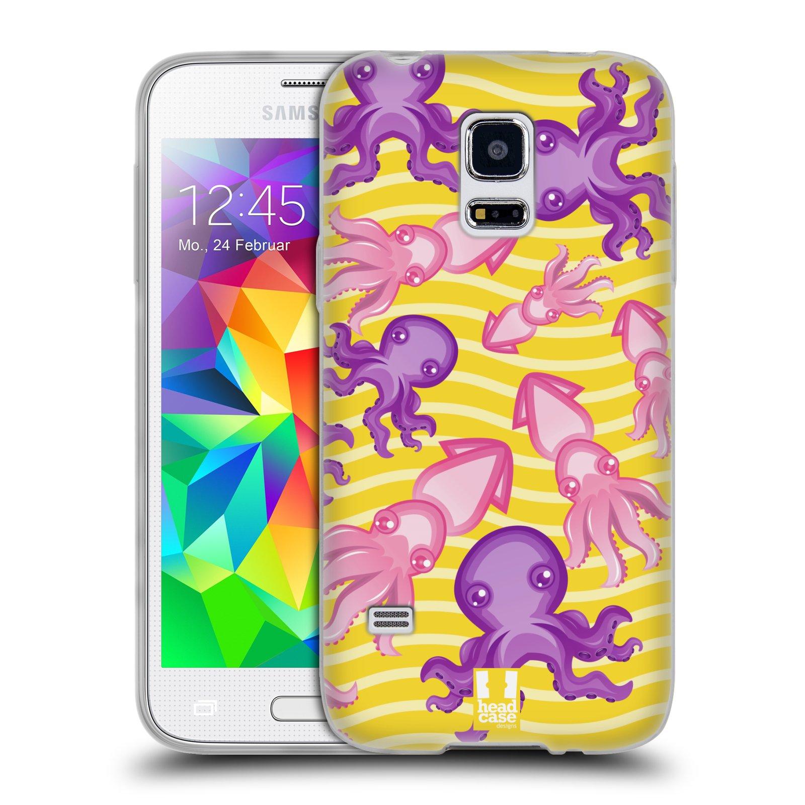 HEAD CASE silikonový obal na mobil Samsung Galaxy S5 MINI vzor mořský živočich chobotnice