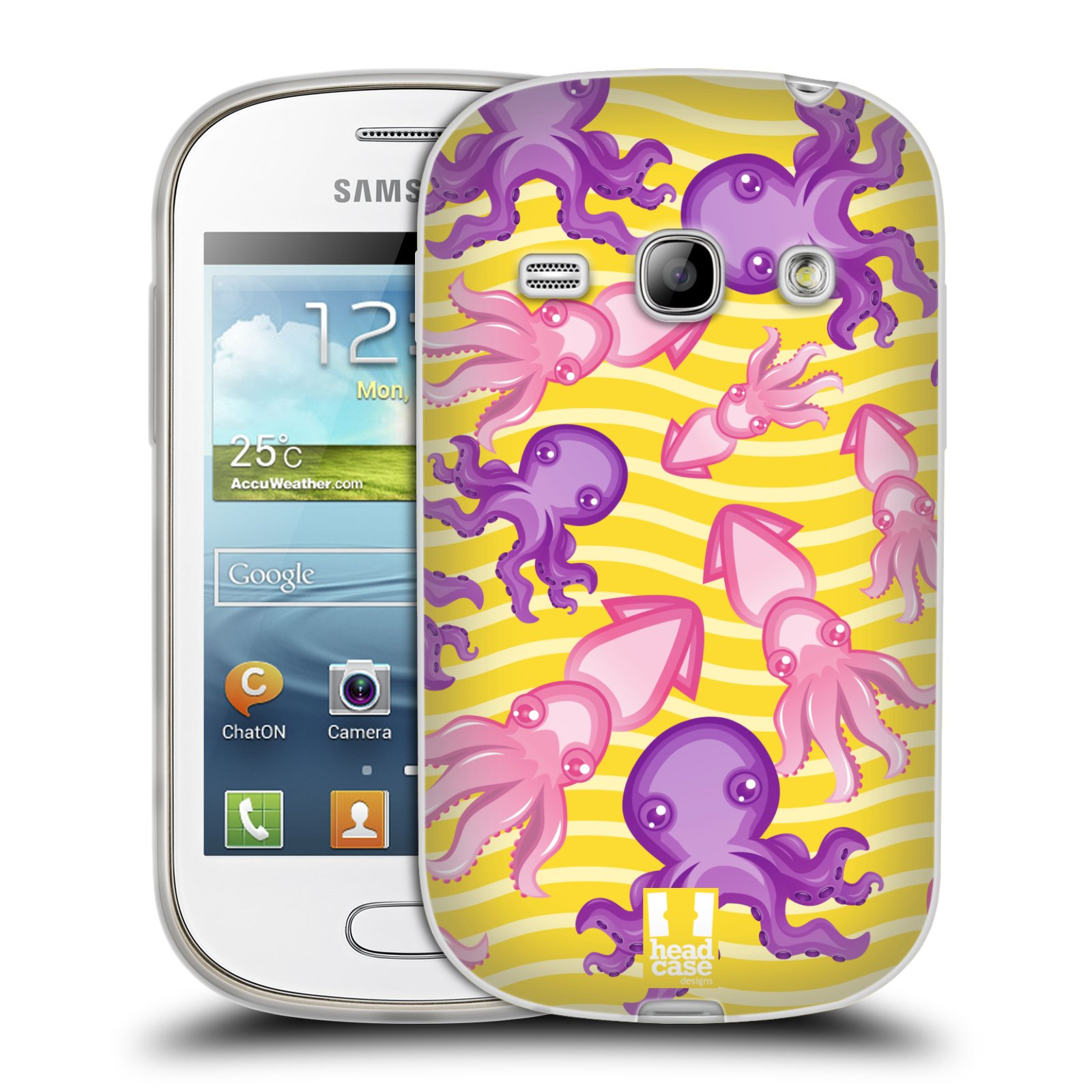 HEAD CASE silikonový obal na mobil Samsung Galaxy FAME vzor mořský živočich chobotnice