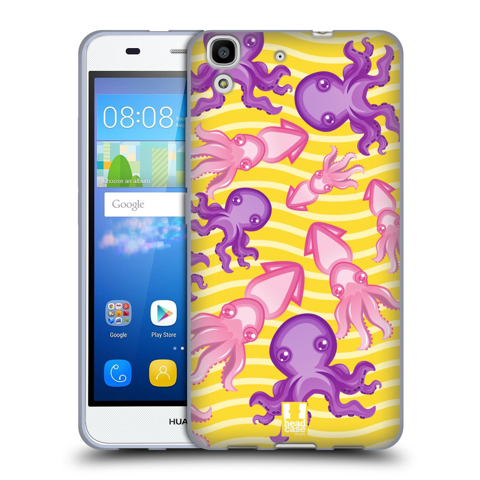 HEAD CASE silikonový obal na mobil HUAWEI Y6 vzor mořský živočich chobotnice