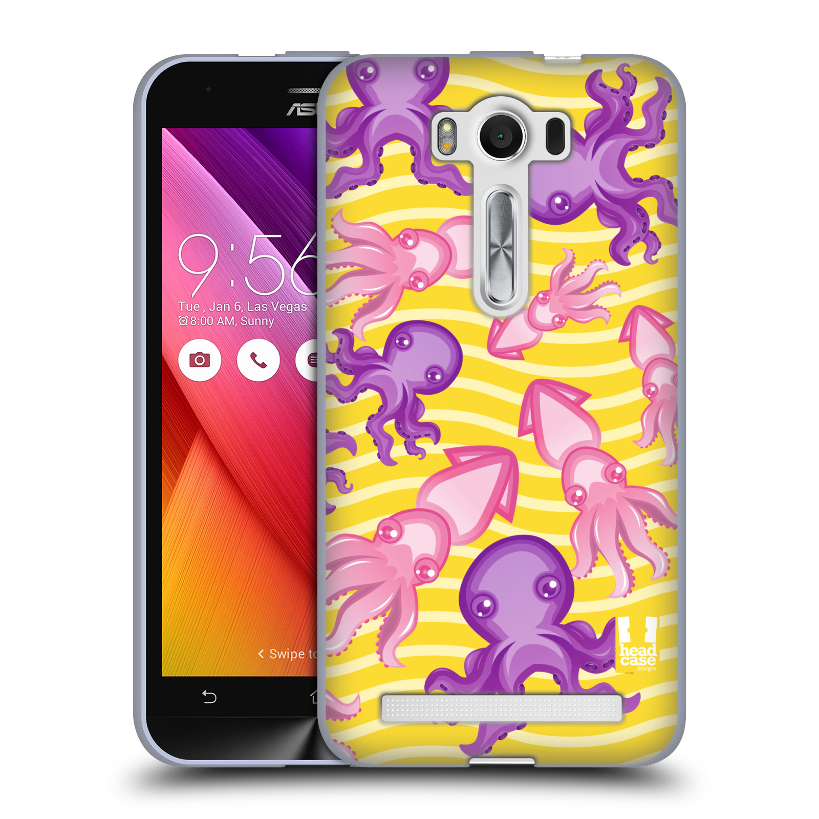 """HEAD CASE silikonový obal na mobil Asus Zenfone 2 LASER (ZE500KL s 5"""" displejem) vzor mořský živočich chobotnice"""