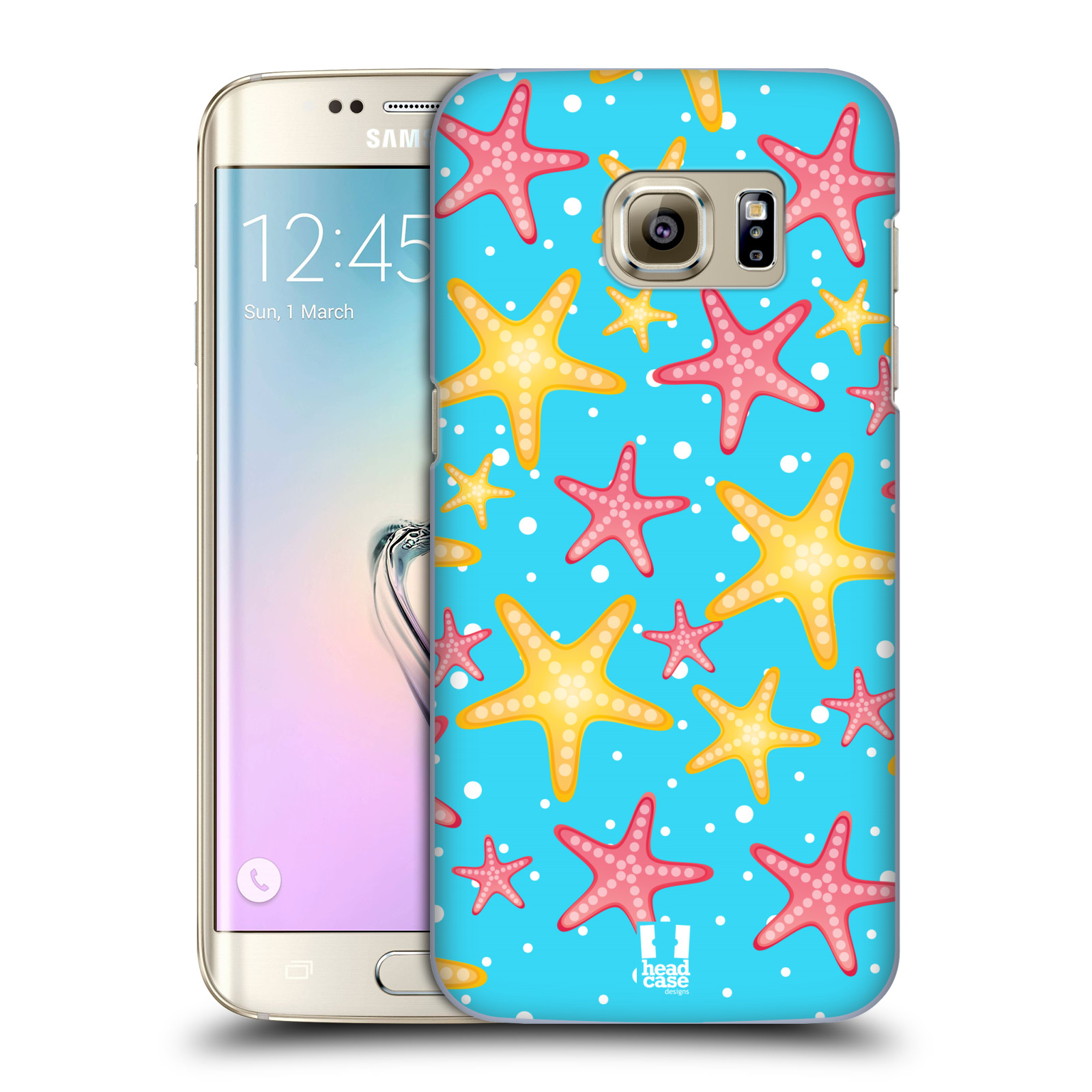HEAD CASE plastový obal na mobil SAMSUNG GALAXY S7 EDGE vzor mořský živočich hvězda