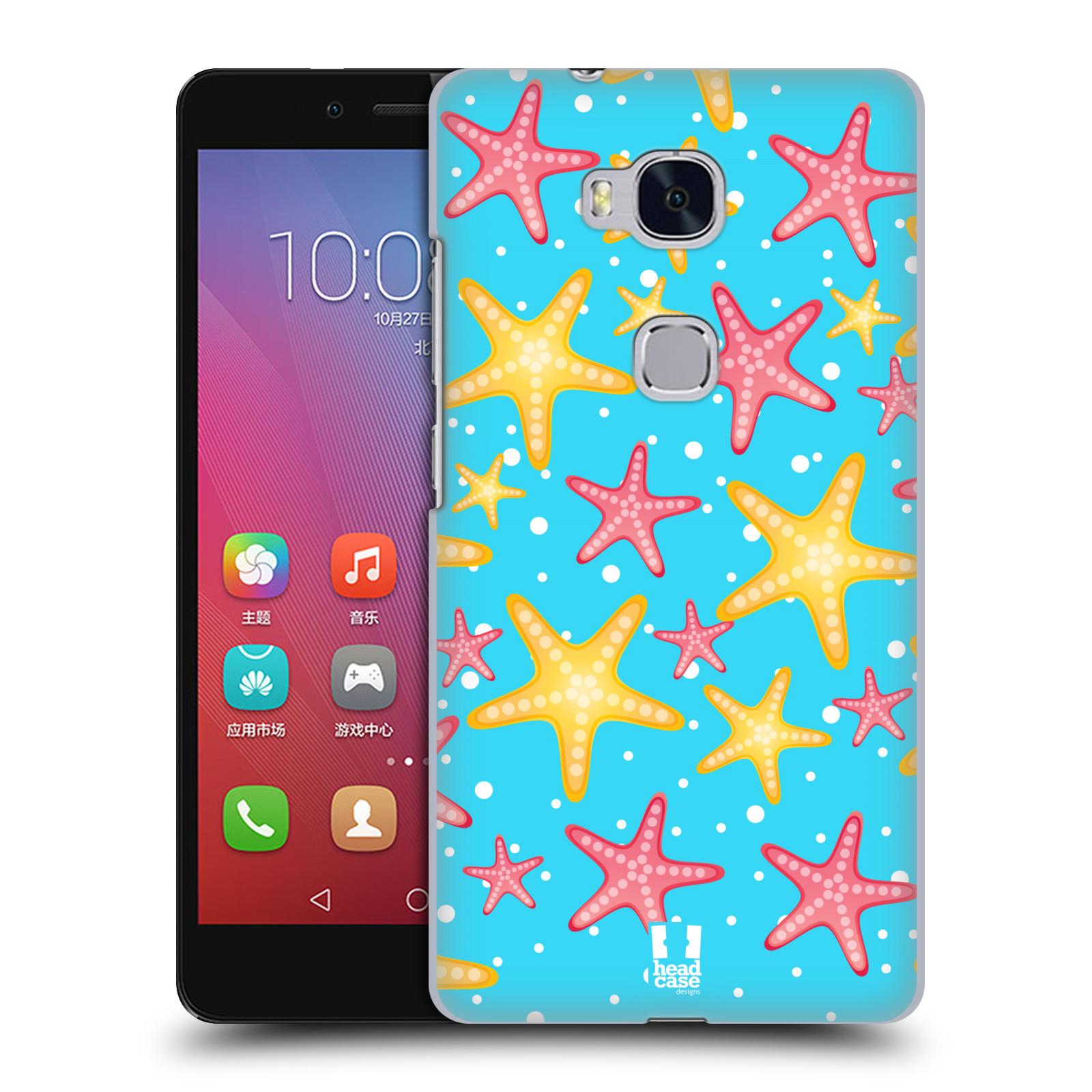 HEAD CASE pevný plastový obal na mobil HUAWEI HONOR 5X vzor mořský živočich hvězda