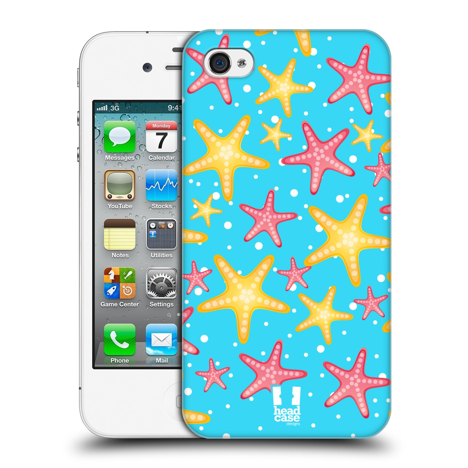 HEAD CASE plastový obal na mobil Apple Iphone 4/4S vzor mořský živočich hvězda