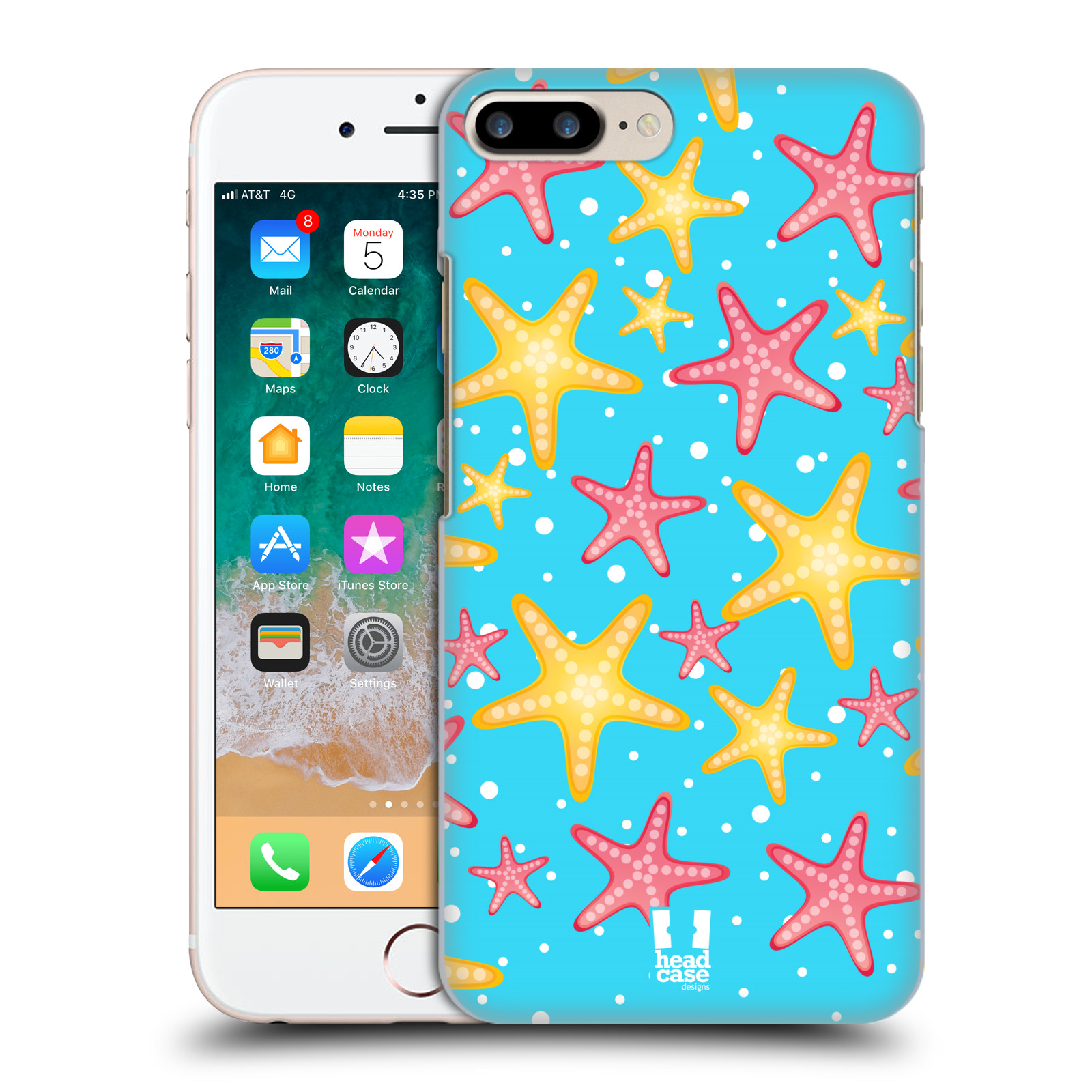 HEAD CASE plastový obal na mobil Apple Iphone 7 PLUS vzor mořský živočich hvězda