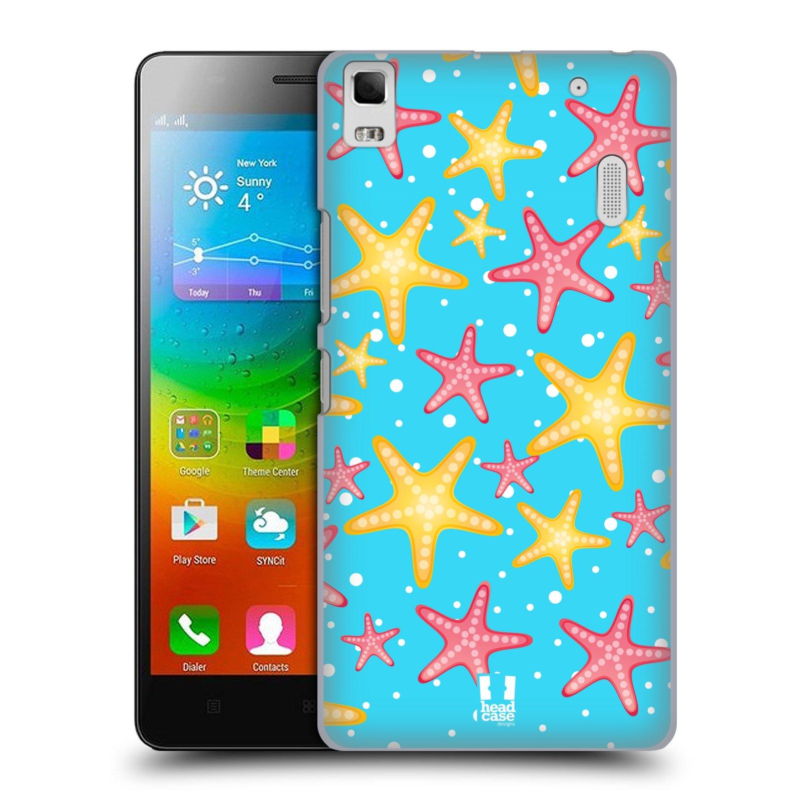 HEAD CASE pevný plastový obal na mobil LENOVO A7000 / A7000 DUAL / K3 NOTE vzor mořský živočich hvězda
