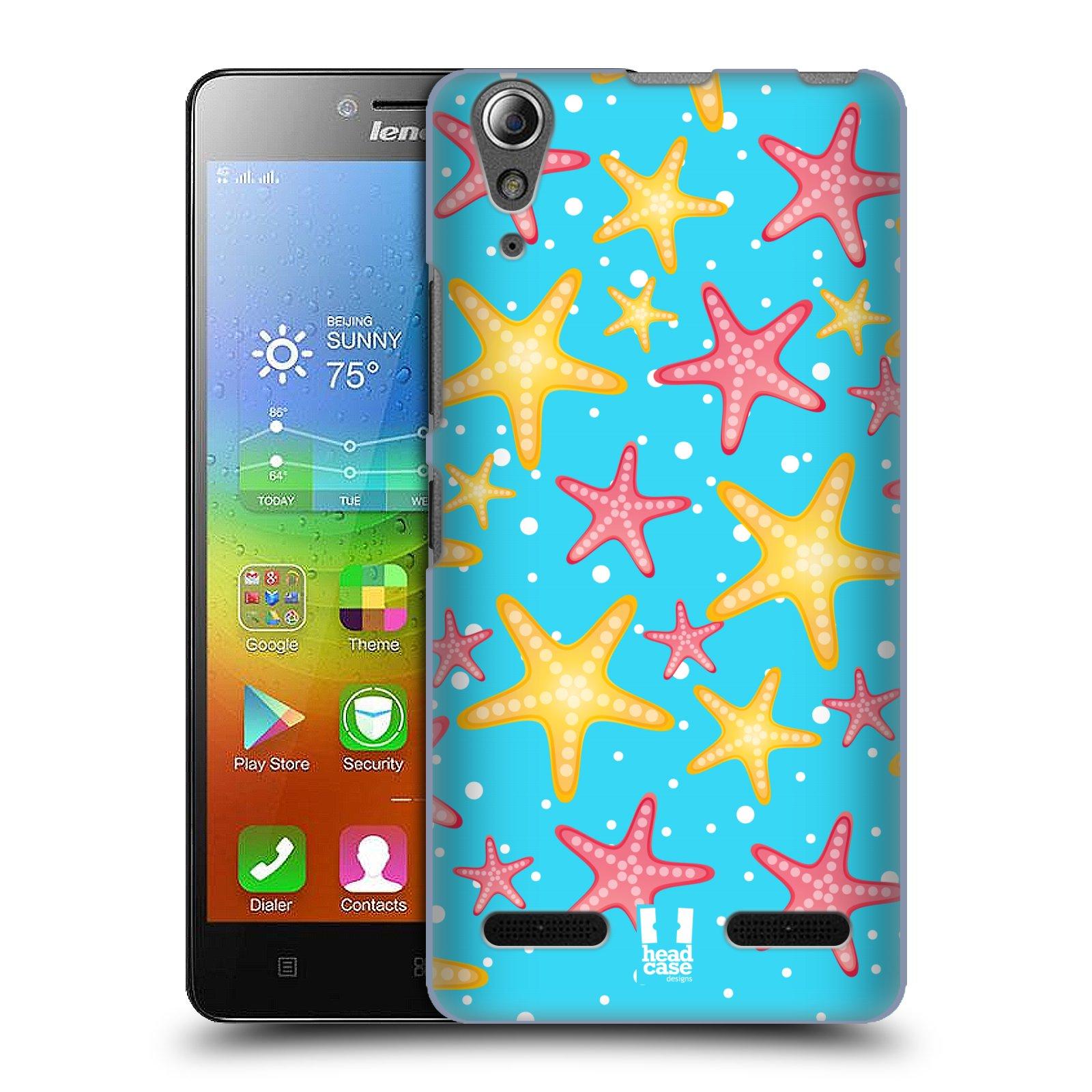 HEAD CASE pevný plastový obal na mobil LENOVO A6000 / A6000 PLUS vzor mořský živočich hvězda