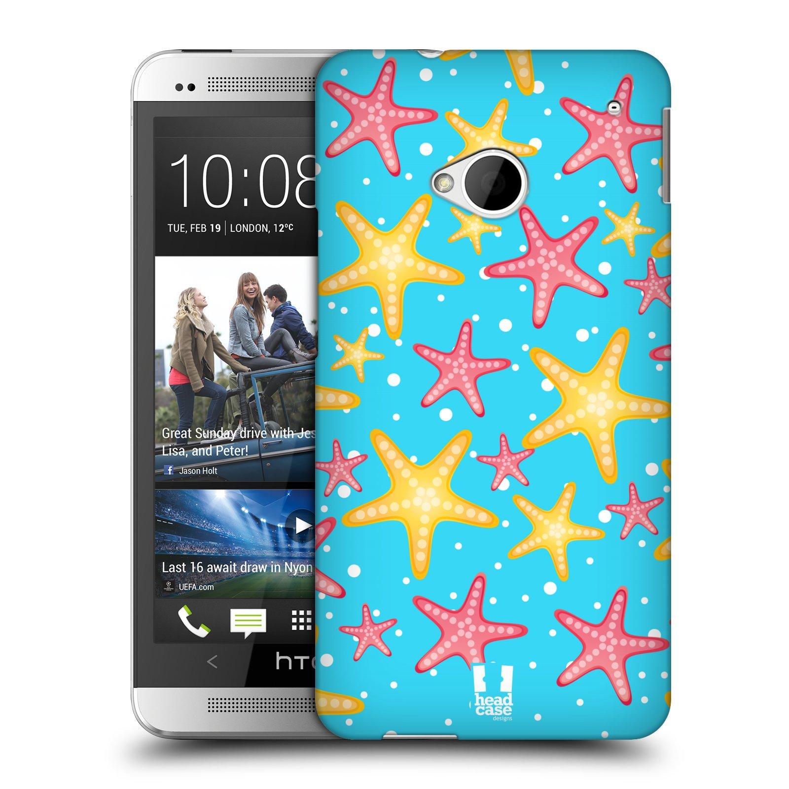 HEAD CASE plastový obal na mobil HTC One (M7) vzor mořský živočich hvězda