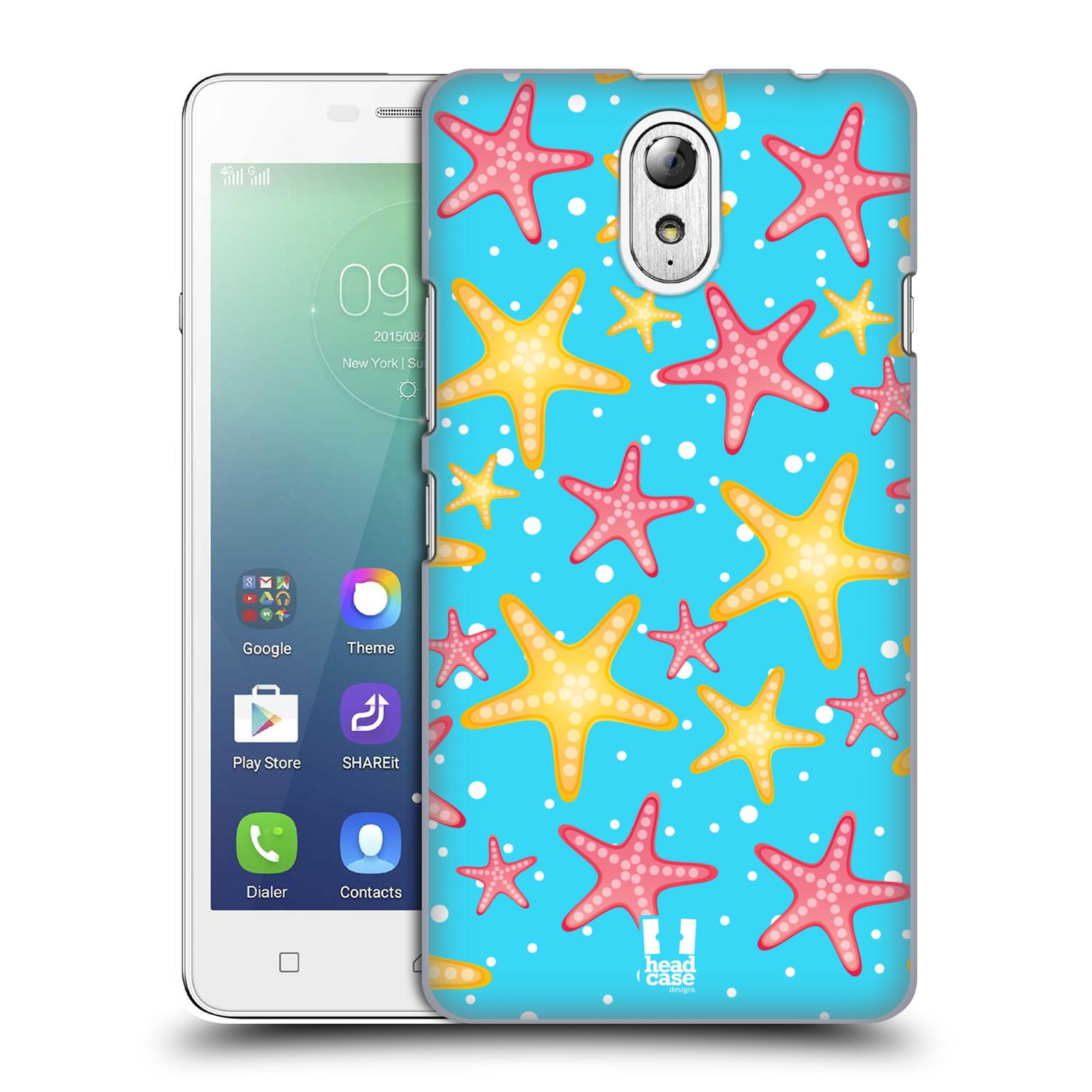 HEAD CASE pevný plastový obal na mobil LENOVO VIBE P1m / LENOVO VIBE p1m DUAL SIM vzor mořský živočich hvězda