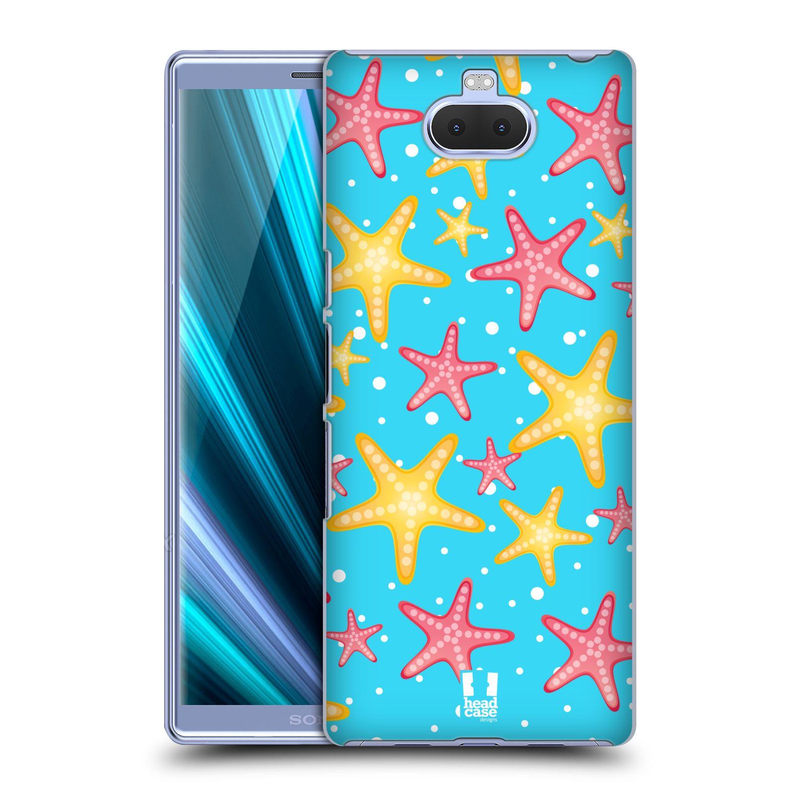 Pouzdro na mobil Sony Xperia 10 - Head Case - vzor mořský živočich hvězda