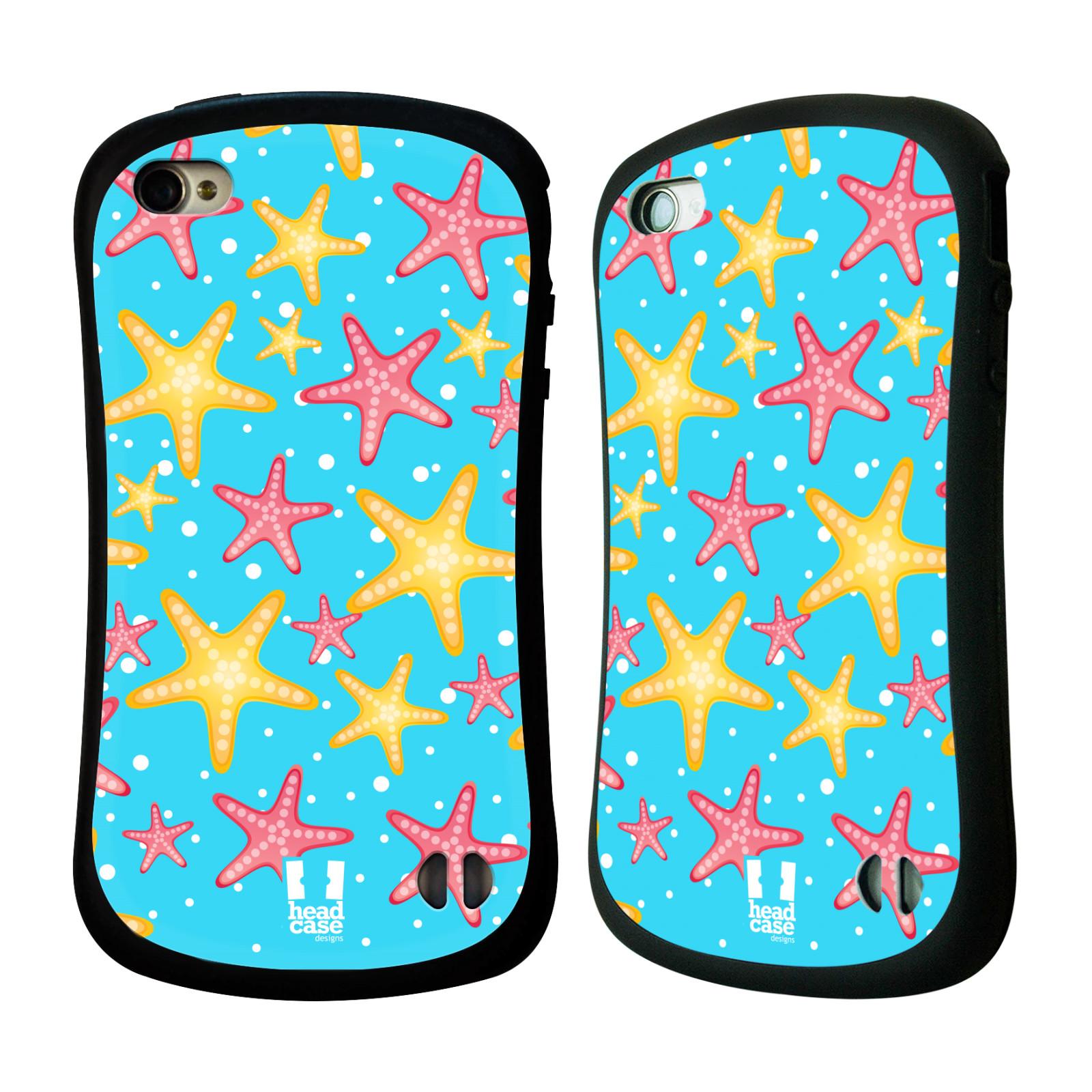 HEAD CASE silikon/plast odolný obal na mobil Apple Iphone 4/4S vzor mořský živočich hvězda