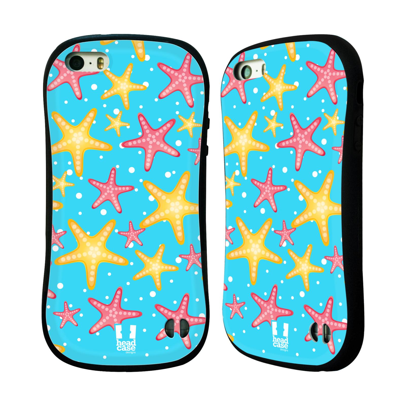 HEAD CASE silikon/plast odolný obal na mobil Apple Iphone 5/5S vzor mořský živočich hvězda