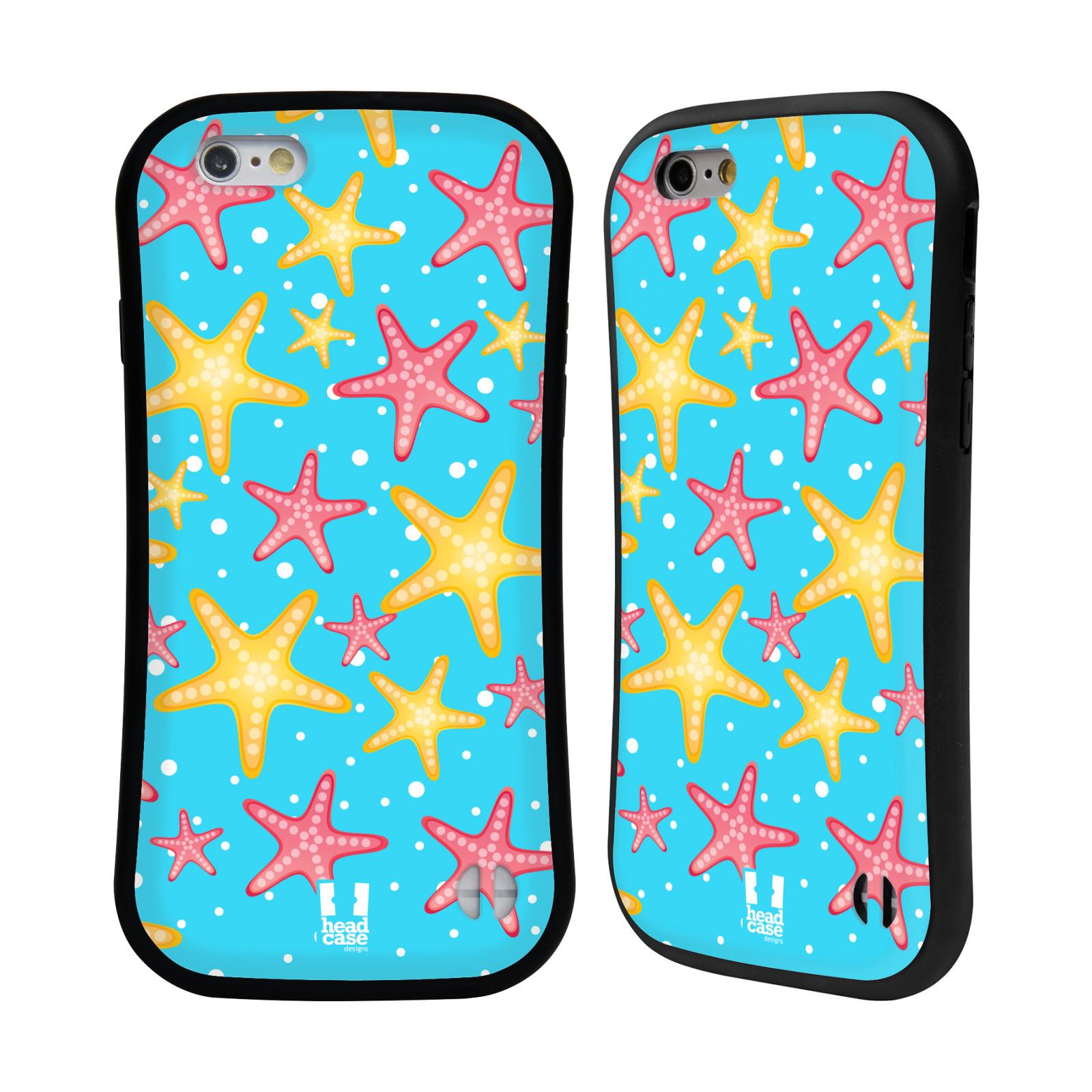 HEAD CASE silikon/plast odolný obal na mobil Apple Iphone 6/6S vzor mořský živočich hvězda