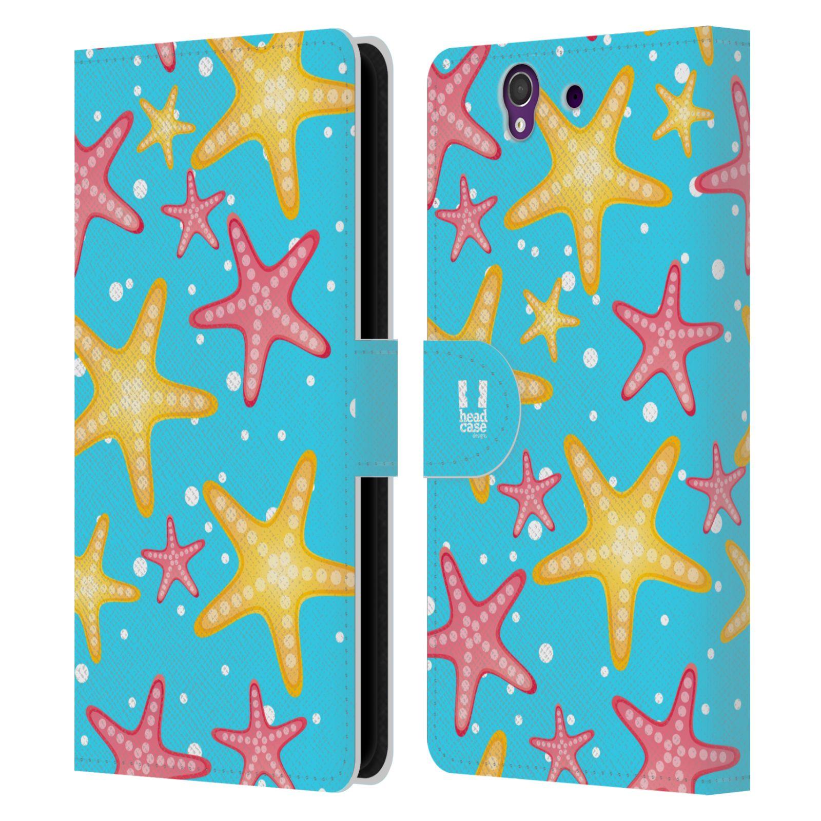 HEAD CASE Flipové pouzdro pro mobil SONY XPERIA Z (C6603) Mořský živočich hvězdice modrá barva pozadí