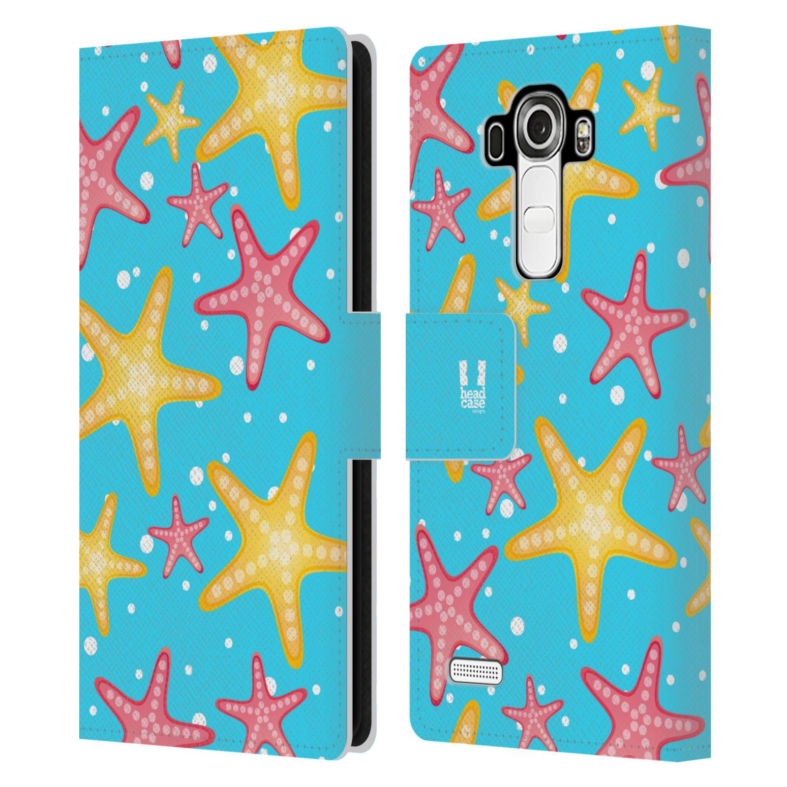 HEAD CASE Flipové pouzdro pro mobil LG G4 (H815) Mořský živočich hvězdice modrá barva pozadí
