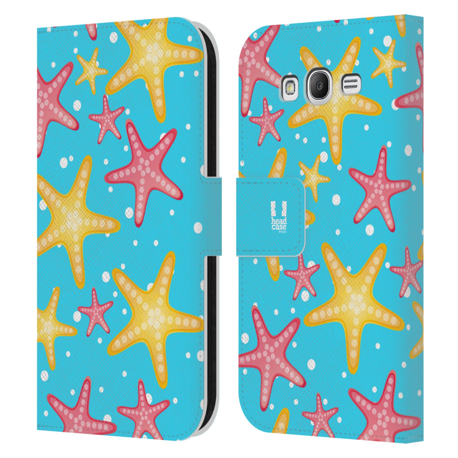 HEAD CASE Flipové pouzdro pro mobil Samsung Galaxy Grand i9080 Mořský živočich hvězdice modrá barva pozadí
