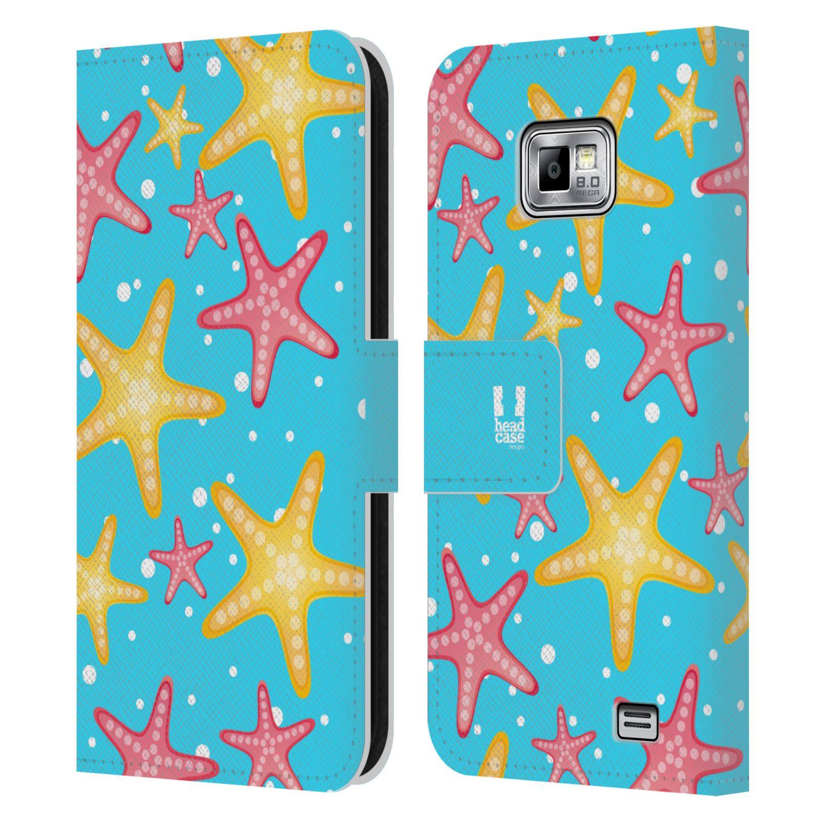 HEAD CASE Flipové pouzdro pro mobil Samsung Galaxy S2 i9100 Mořský živočich hvězdice modrá barva pozadí