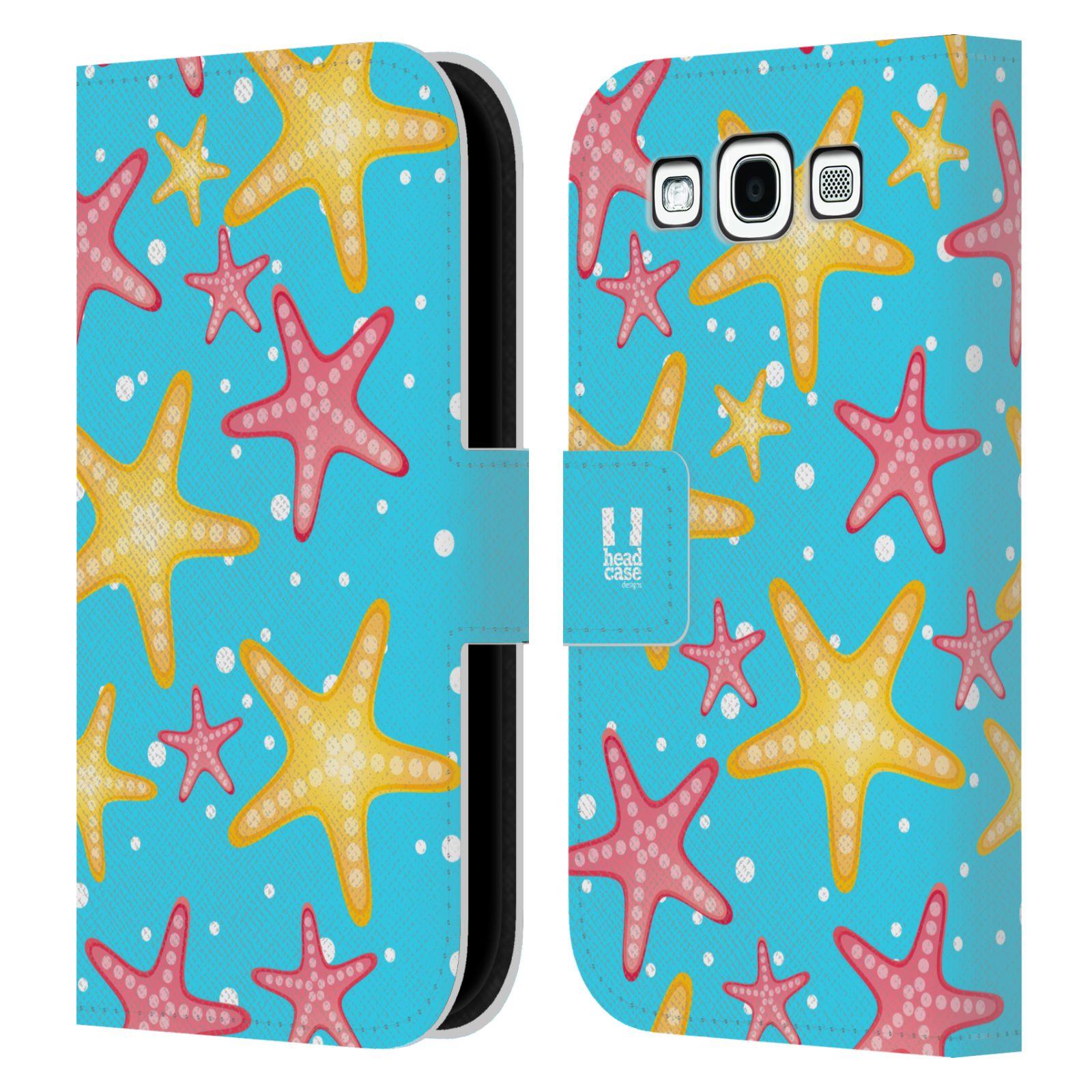 HEAD CASE Flipové pouzdro pro mobil Samsung Galaxy S3 Mořský živočich hvězdice modrá barva pozadí