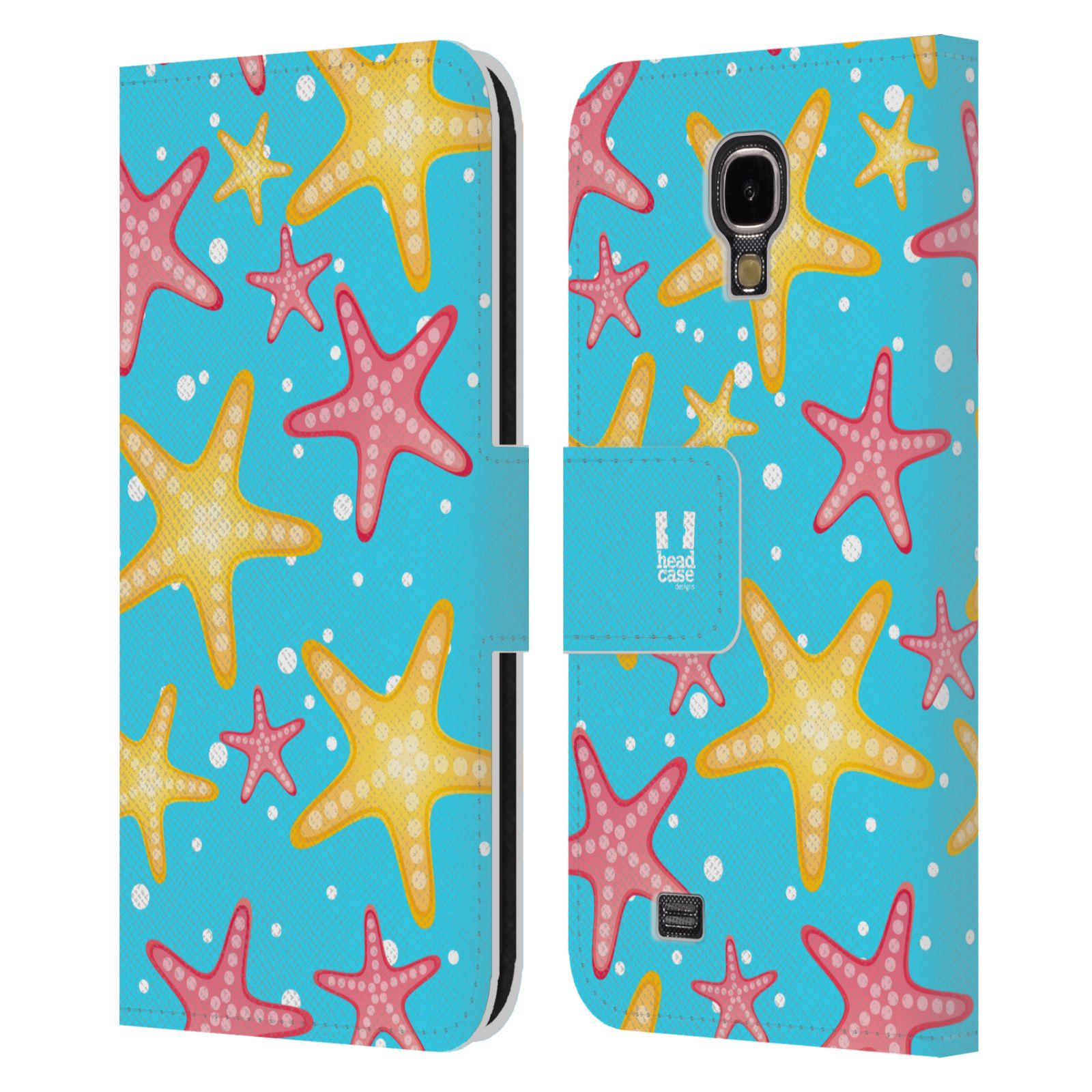HEAD CASE Flipové pouzdro pro mobil Samsung Galaxy S4 Mořský živočich hvězdice modrá barva pozadí