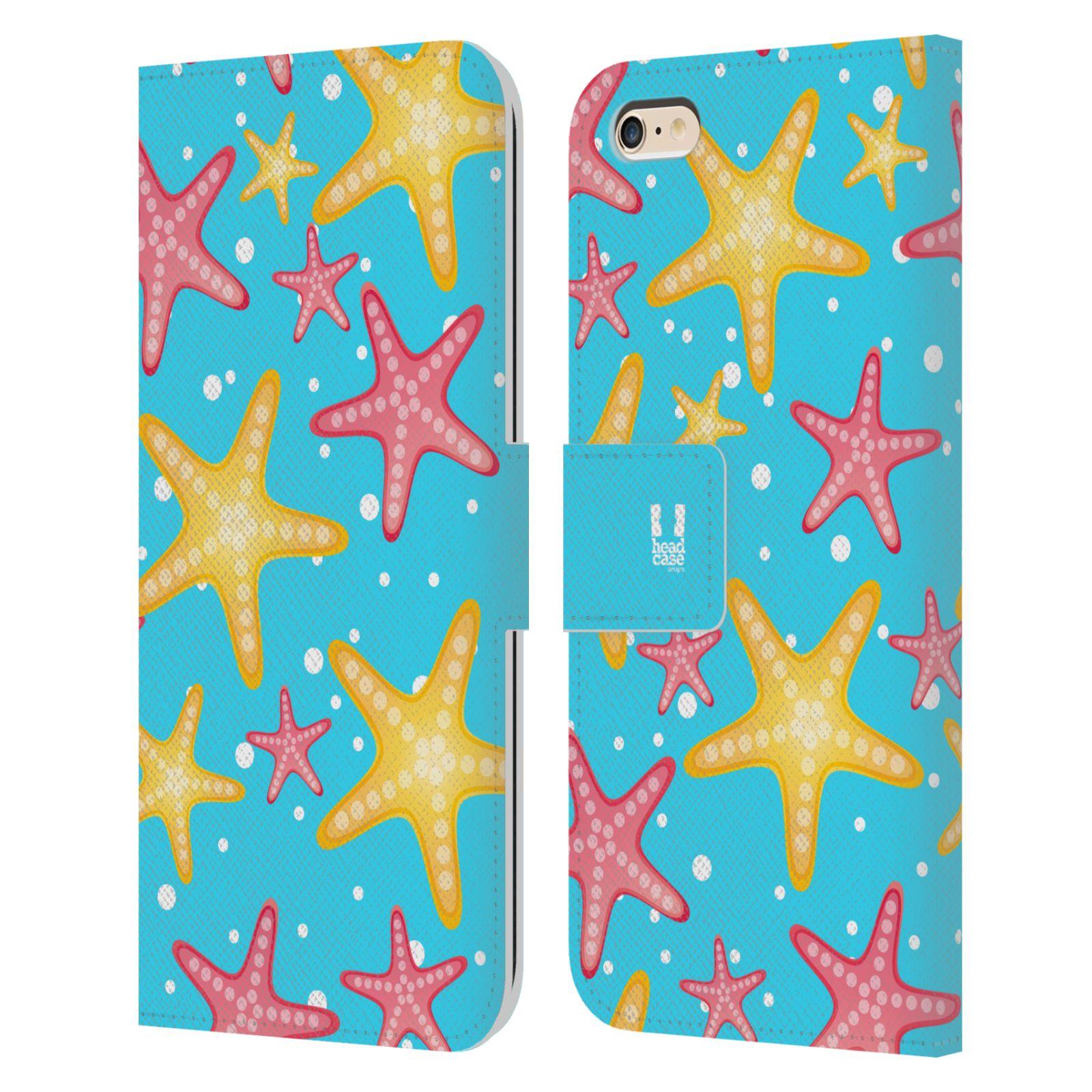 HEAD CASE Flipové pouzdro pro mobil Apple Iphone 6 PLUS / 6S PLUS Mořský živočich hvězdice modrá barva pozadí