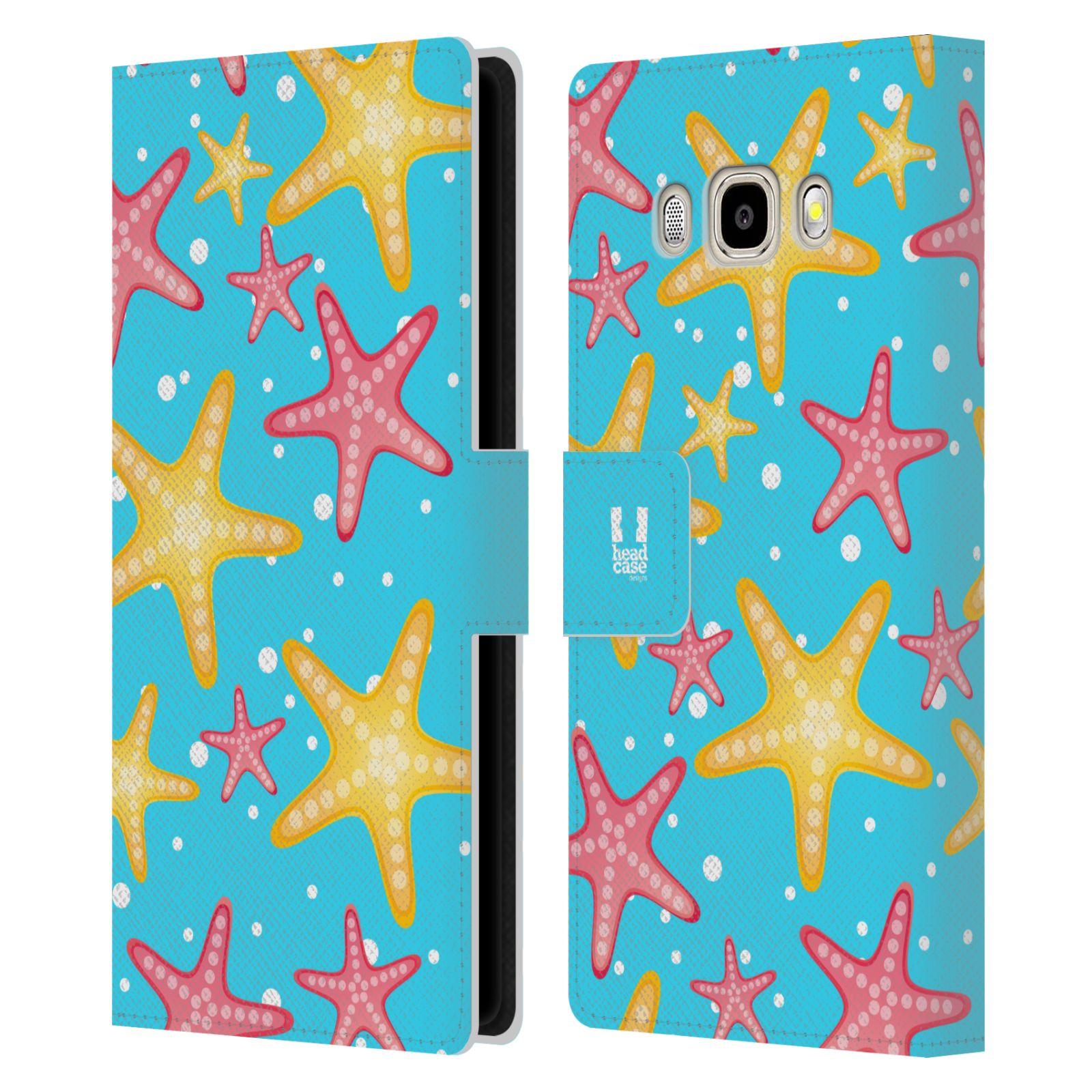 HEAD CASE Flipové pouzdro pro mobil Samsung Galaxy J5 2016 Mořský živočich hvězdice modrá barva pozadí