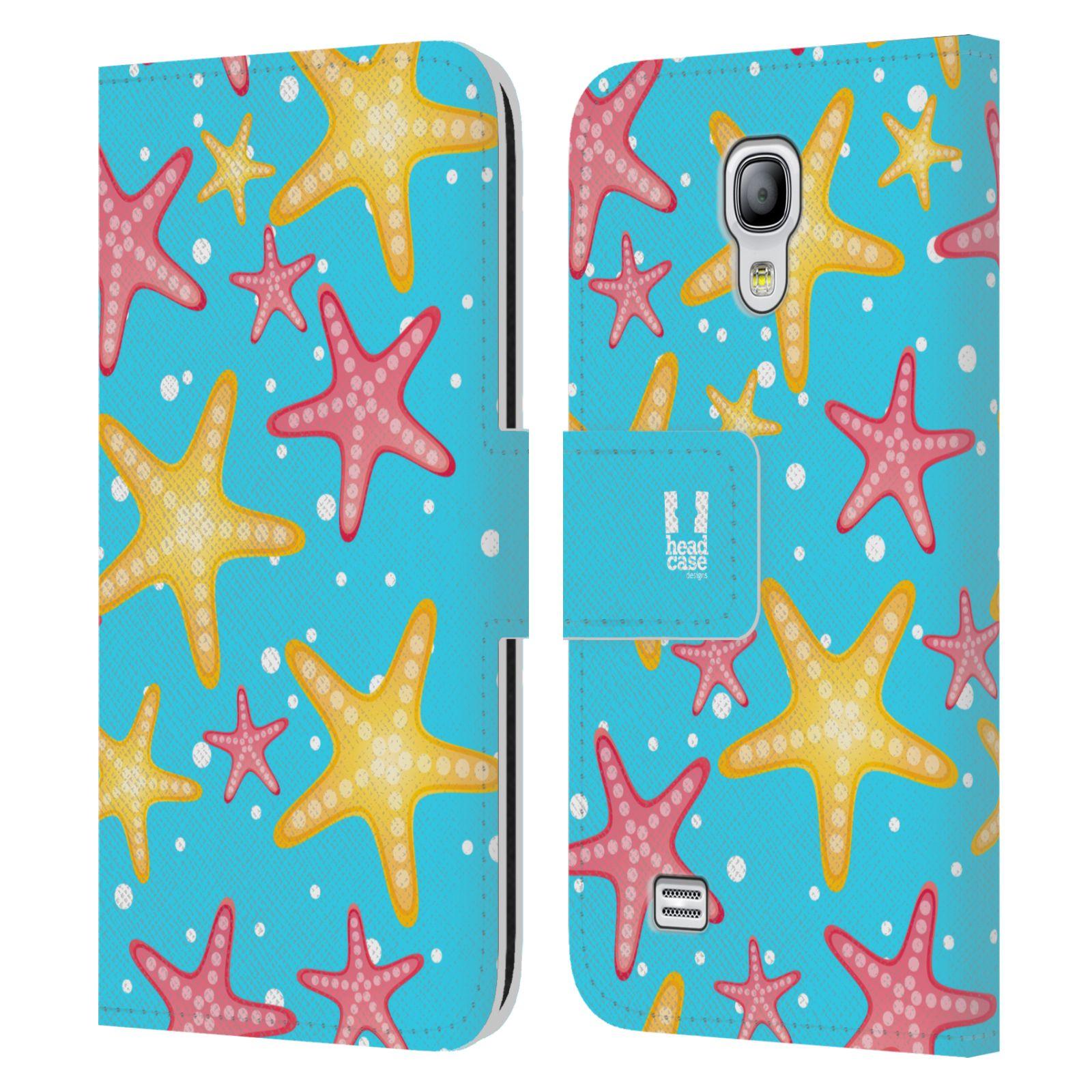 HEAD CASE Flipové pouzdro pro mobil Samsung Galaxy S4 MINI / S4 MINI DUOS Mořský živočich hvězdice modrá barva pozadí