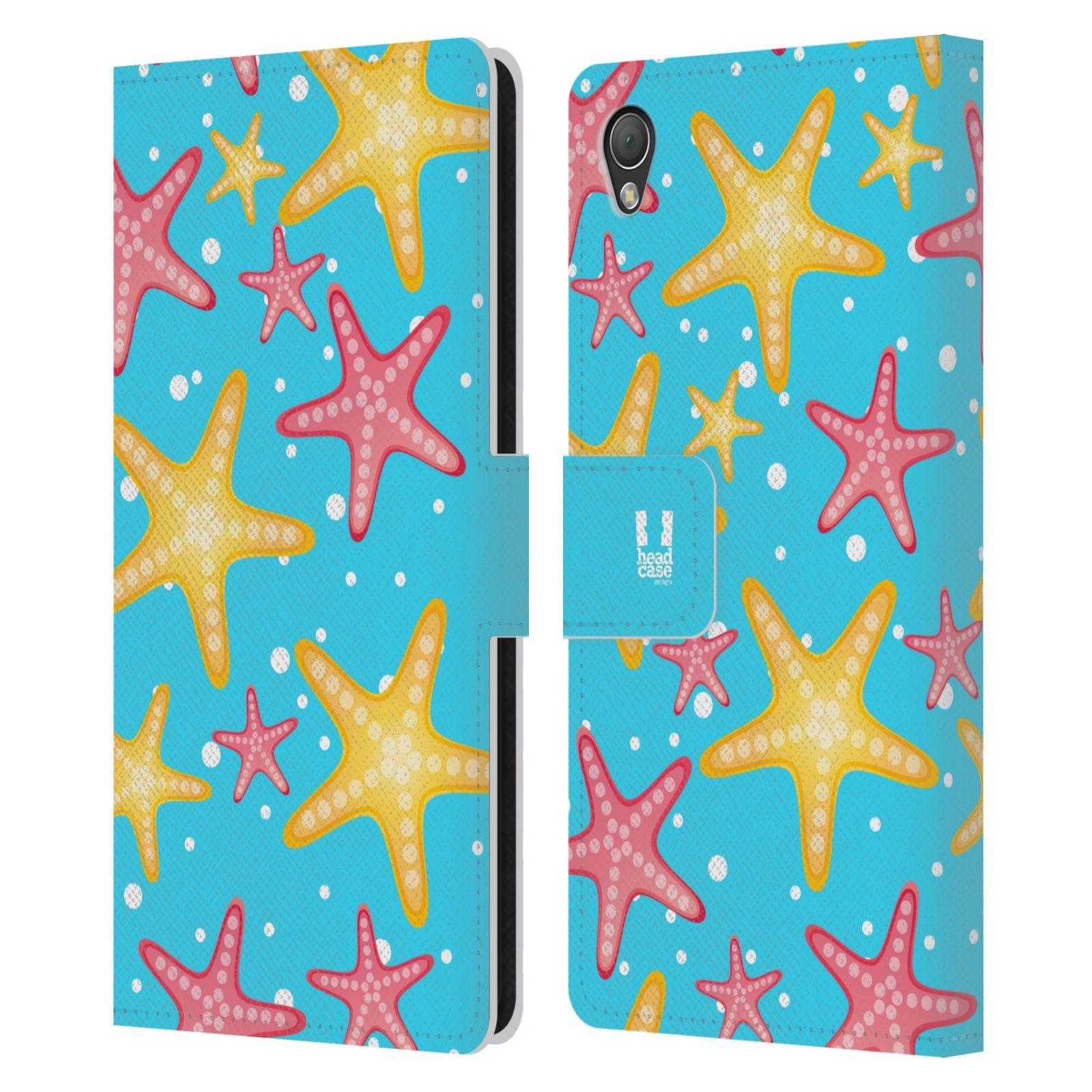 HEAD CASE Flipové pouzdro pro mobil SONY XPERIA Z3 Mořský živočich hvězdice modrá barva pozadí