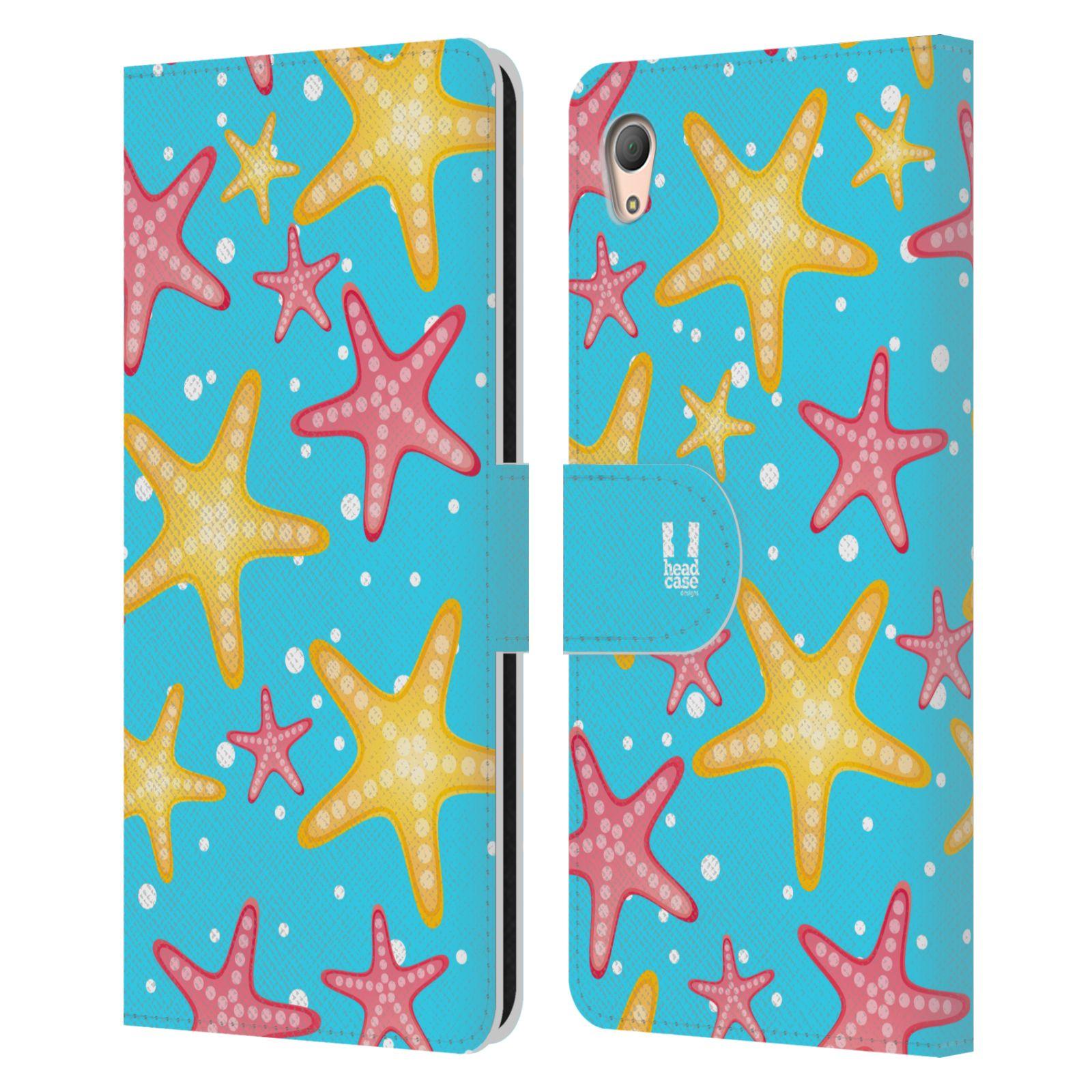 HEAD CASE Flipové pouzdro pro mobil SONY XPERIA Z3+ (PLUS) Mořský živočich hvězdice modrá barva pozadí