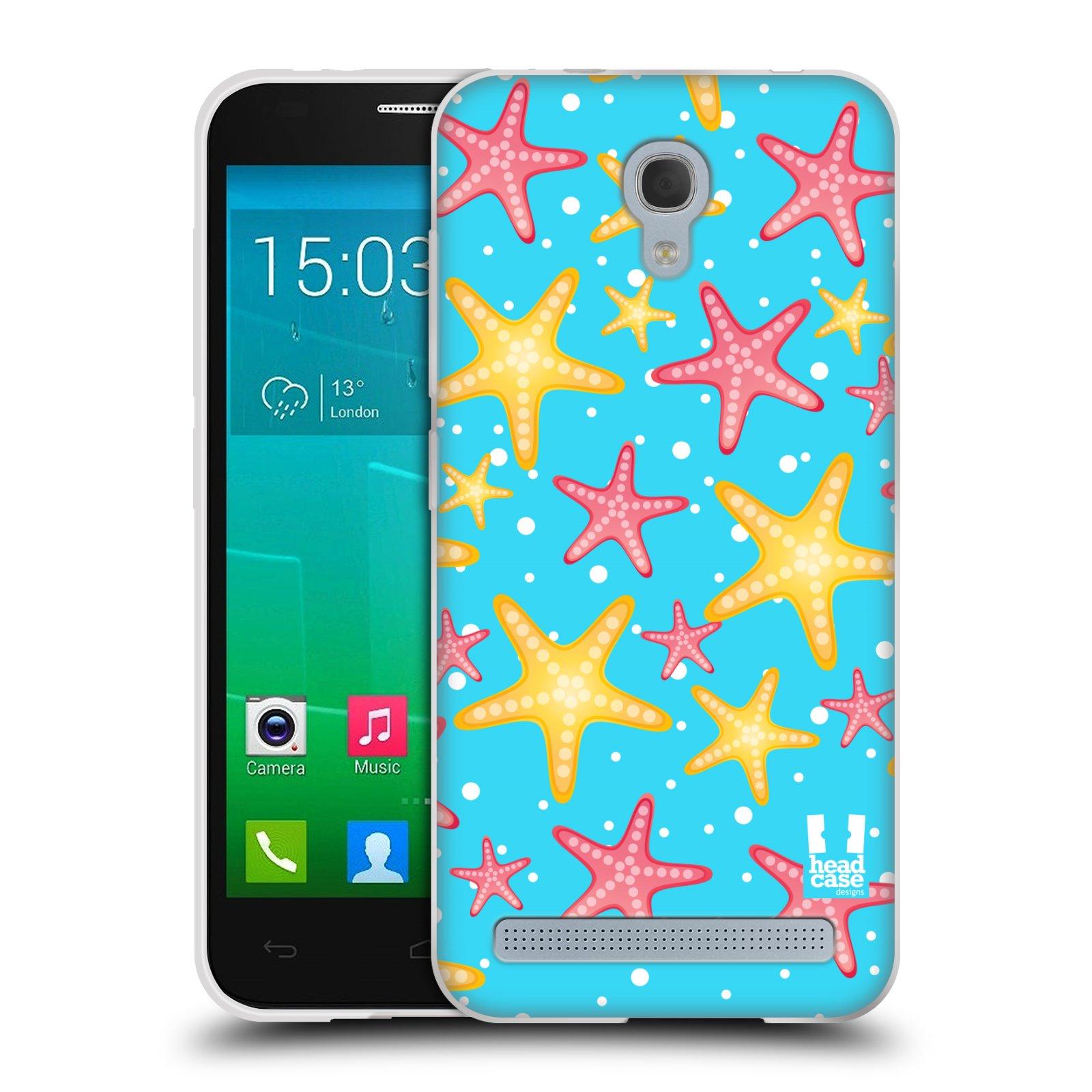 HEAD CASE silikonový obal na mobil Alcatel Idol 2 MINI S 6036Y vzor mořský živočich hvězda