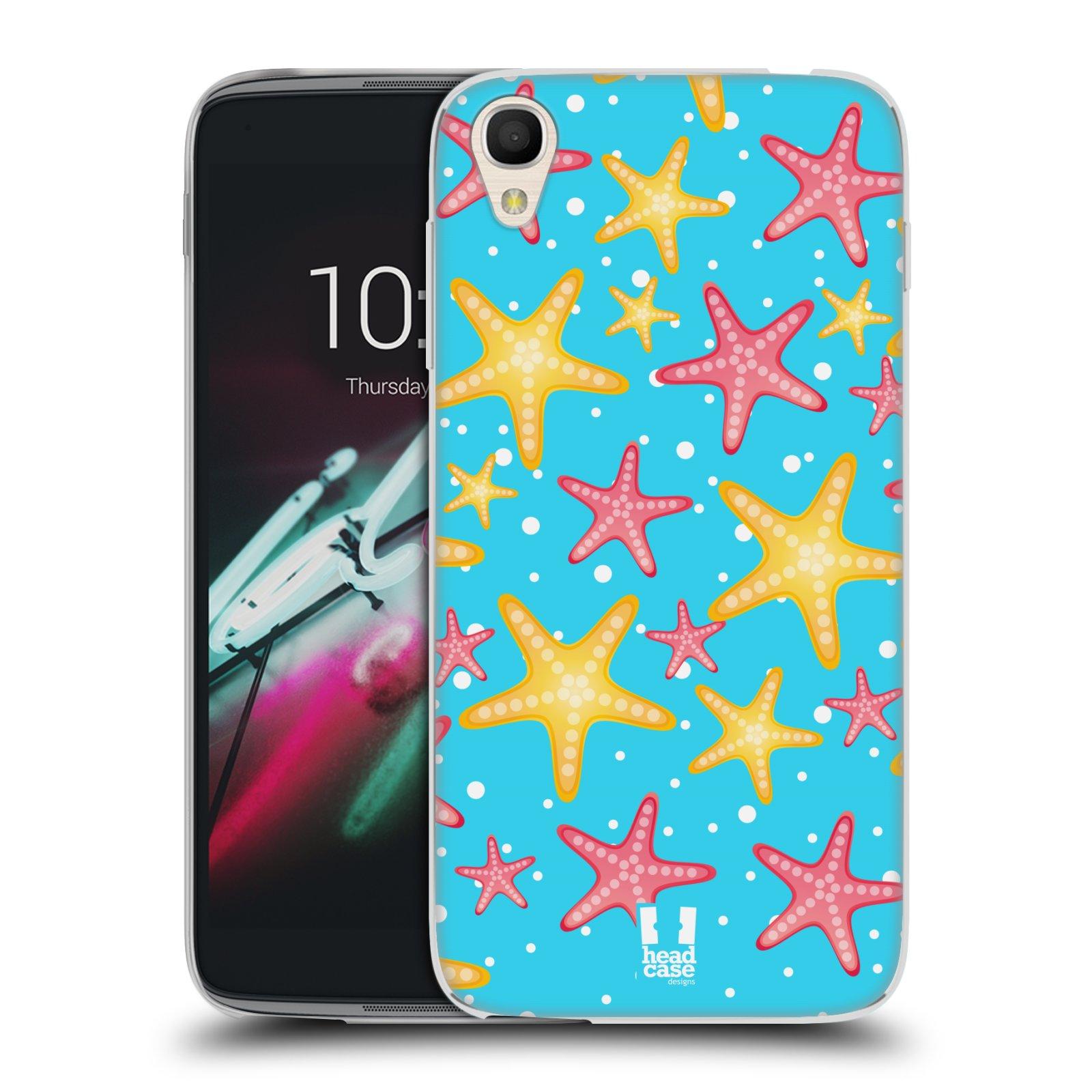 HEAD CASE silikonový obal na mobil Alcatel Idol 3 OT-6039Y (4.7) vzor mořský živočich hvězda