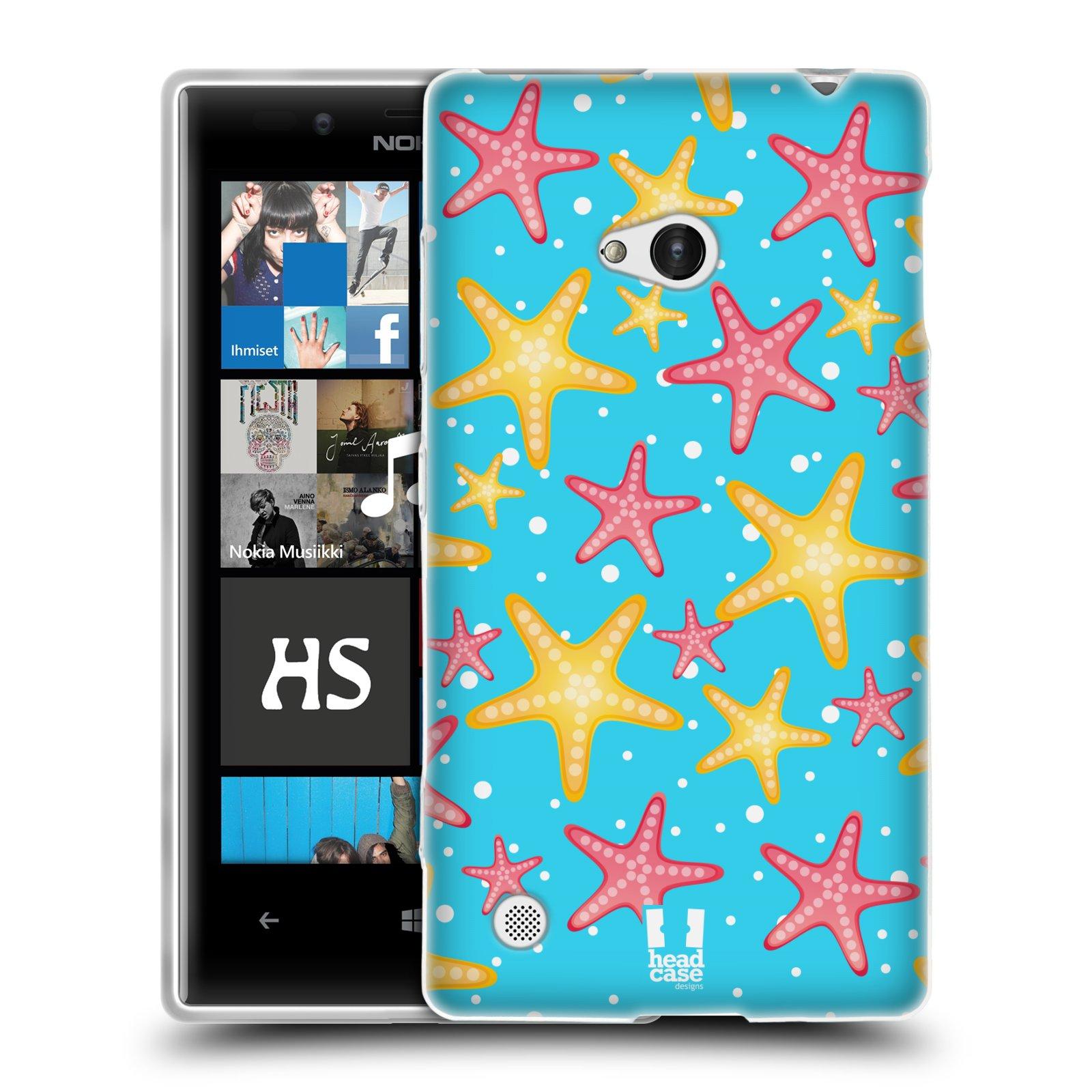 HEAD CASE silikonový obal na mobil NOKIA Lumia 720 vzor mořský živočich hvězda