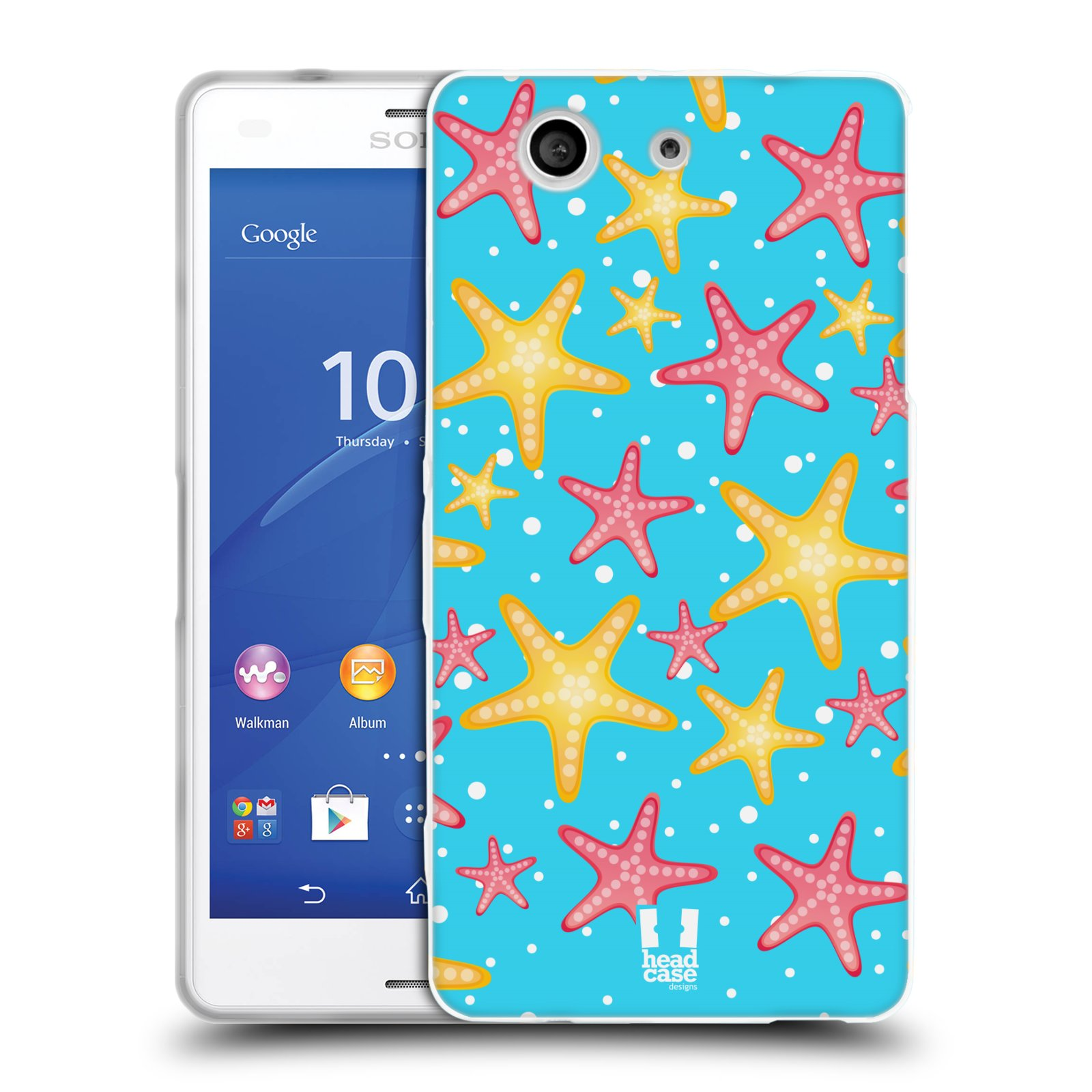 HEAD CASE silikonový obal na mobil Sony Xperia Z3 COMPACT (D5803) vzor mořský živočich hvězda